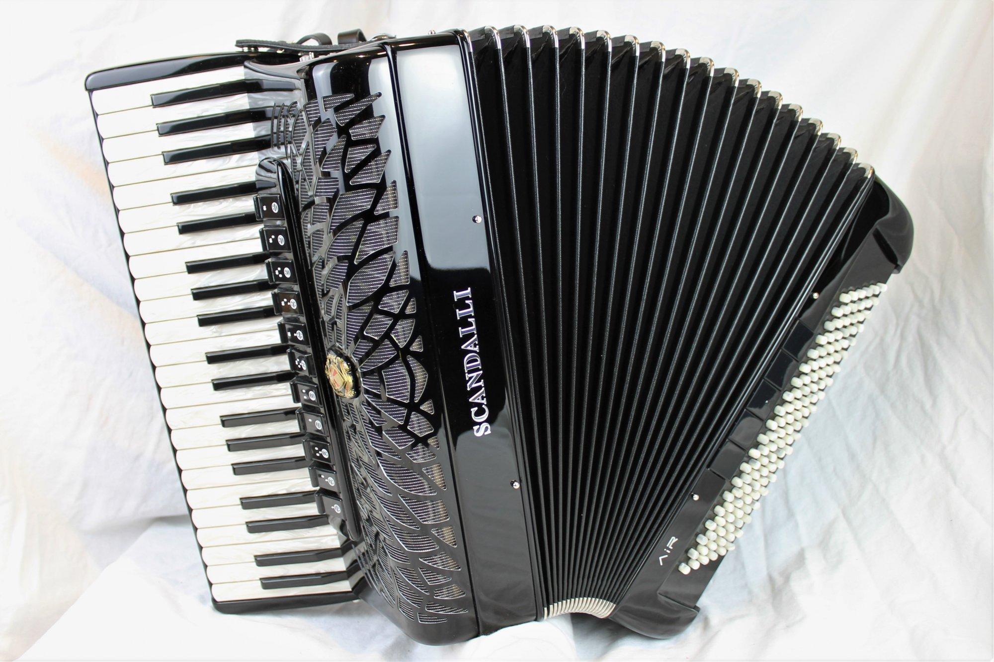 NEW Black Scandalli Air I S Piano Accordion LMMH 41 120