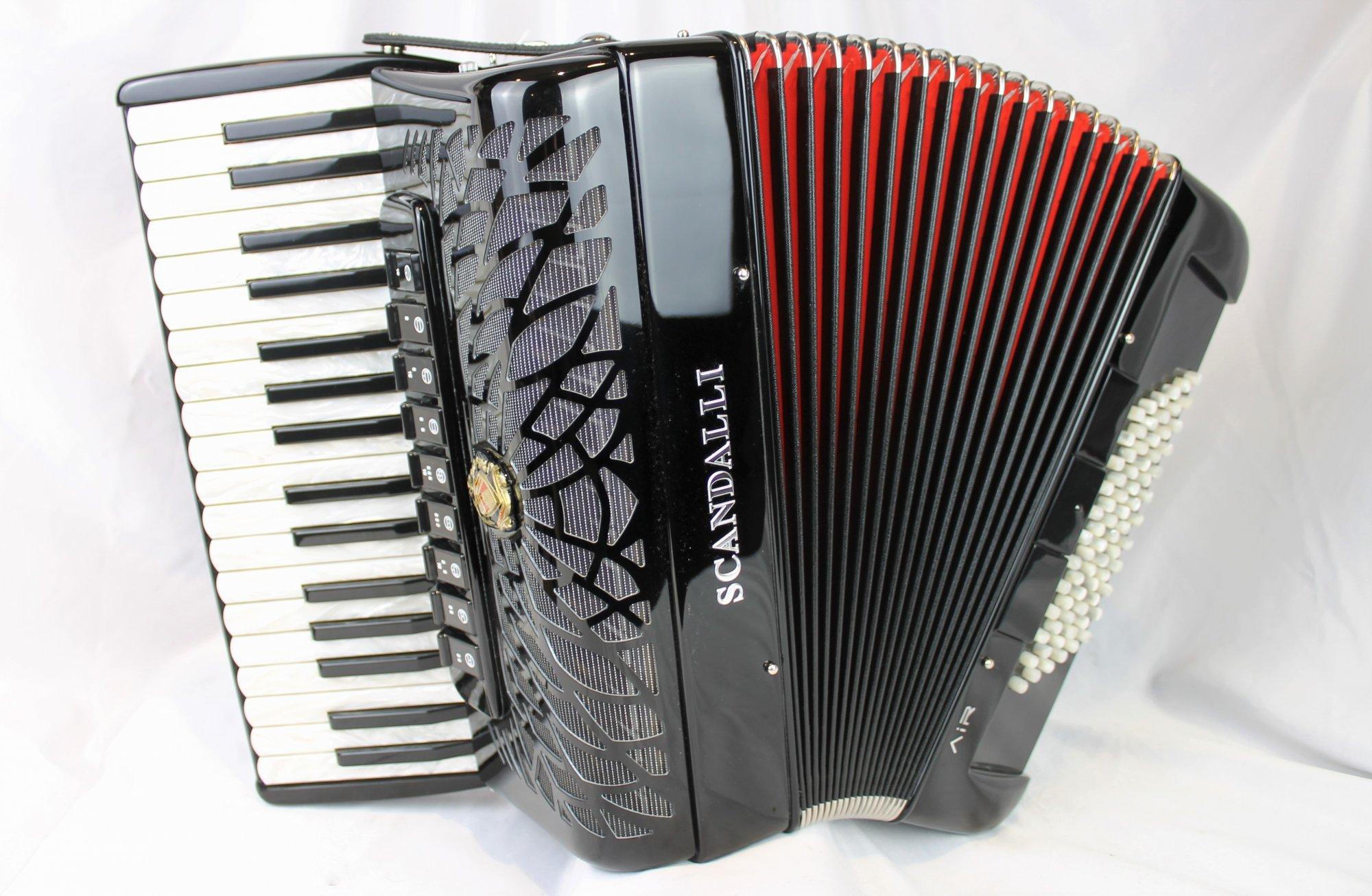 NEW Black Scandalli Air Junior Piano Accordion LMMM 34 72