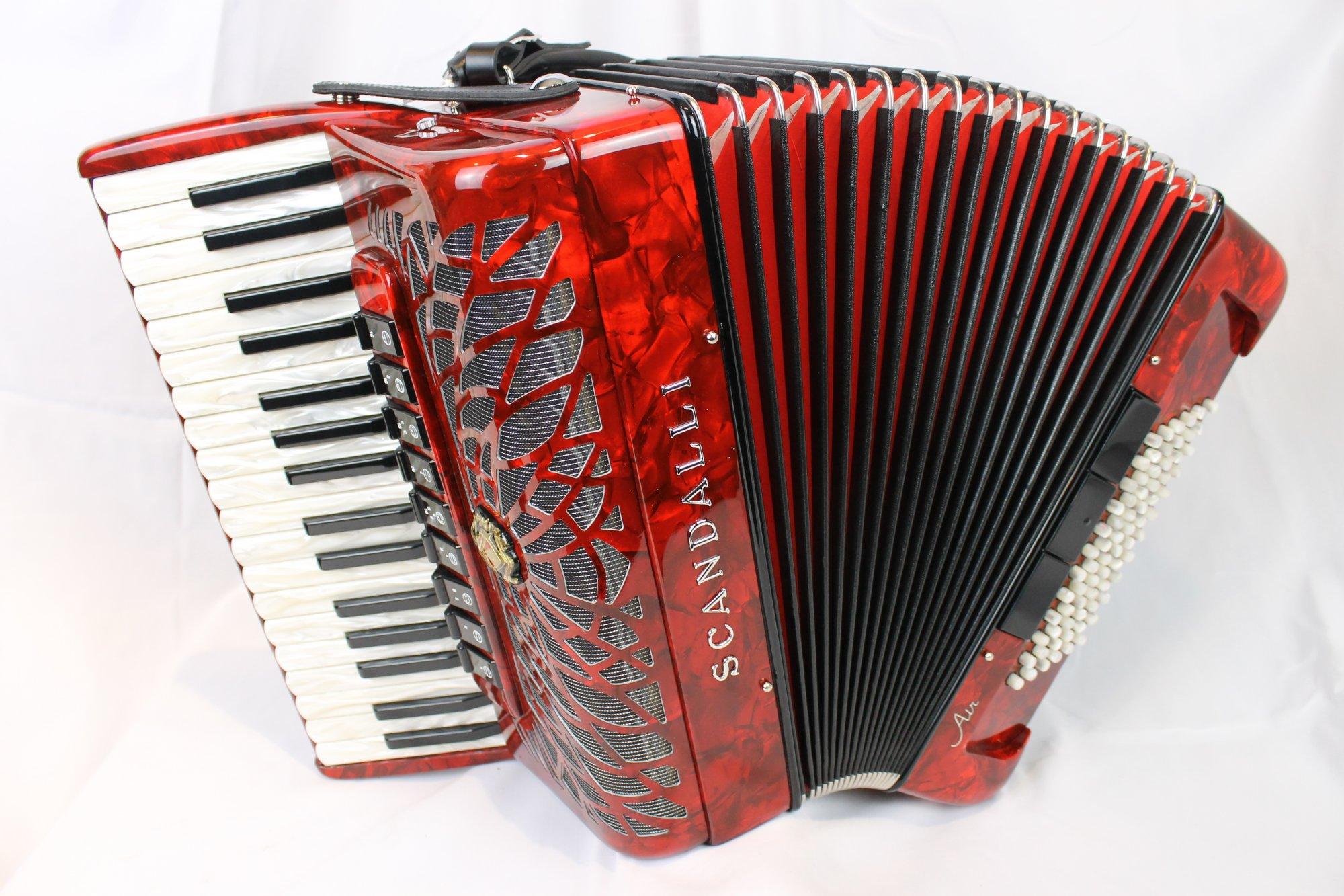 NEW Red Scandalli Air Junior Piano Accordion LMMM 34 72