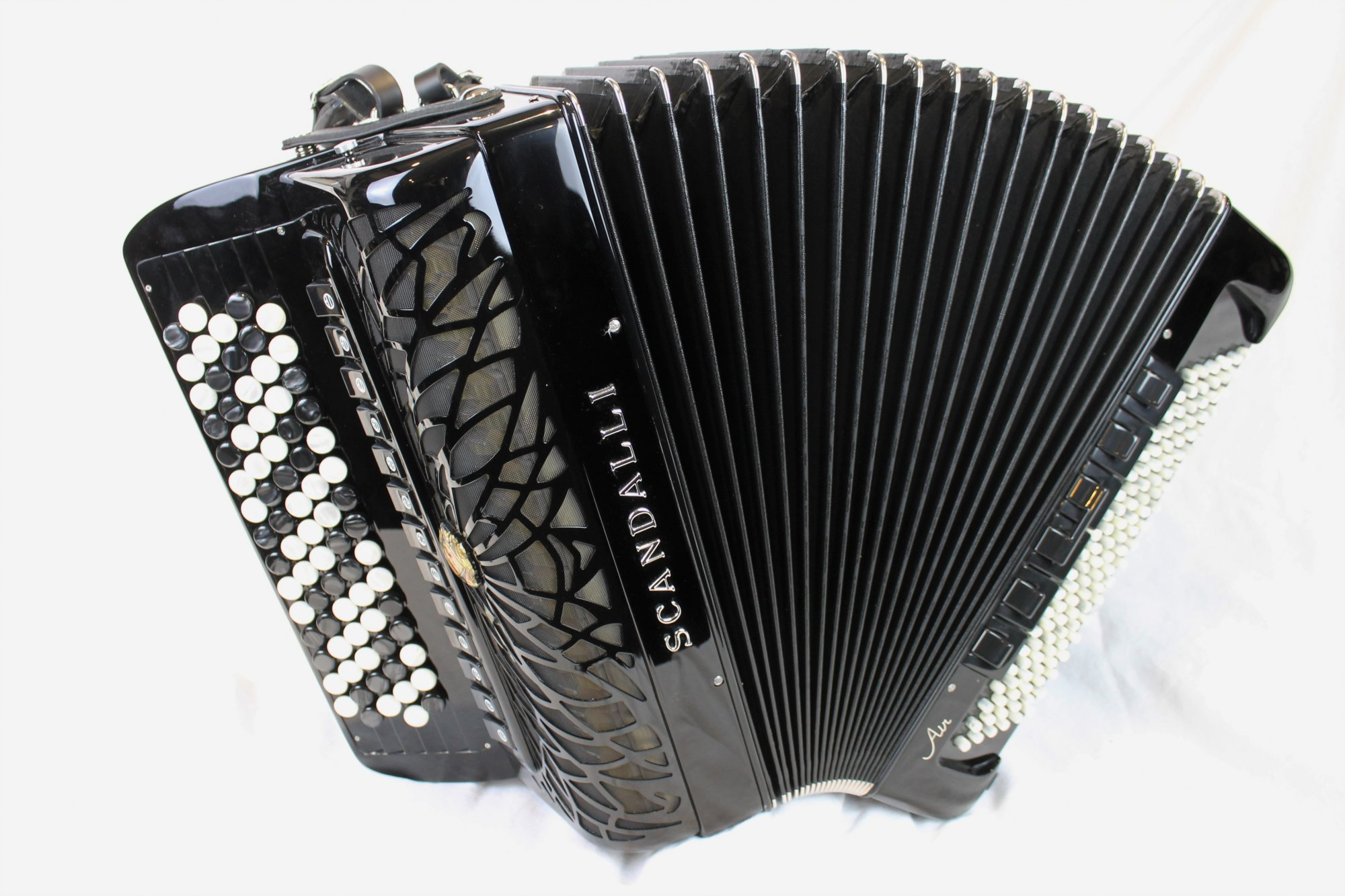 NEW Black Scandalli Air VI Chromatic Button Accordion C LMMH 77 120