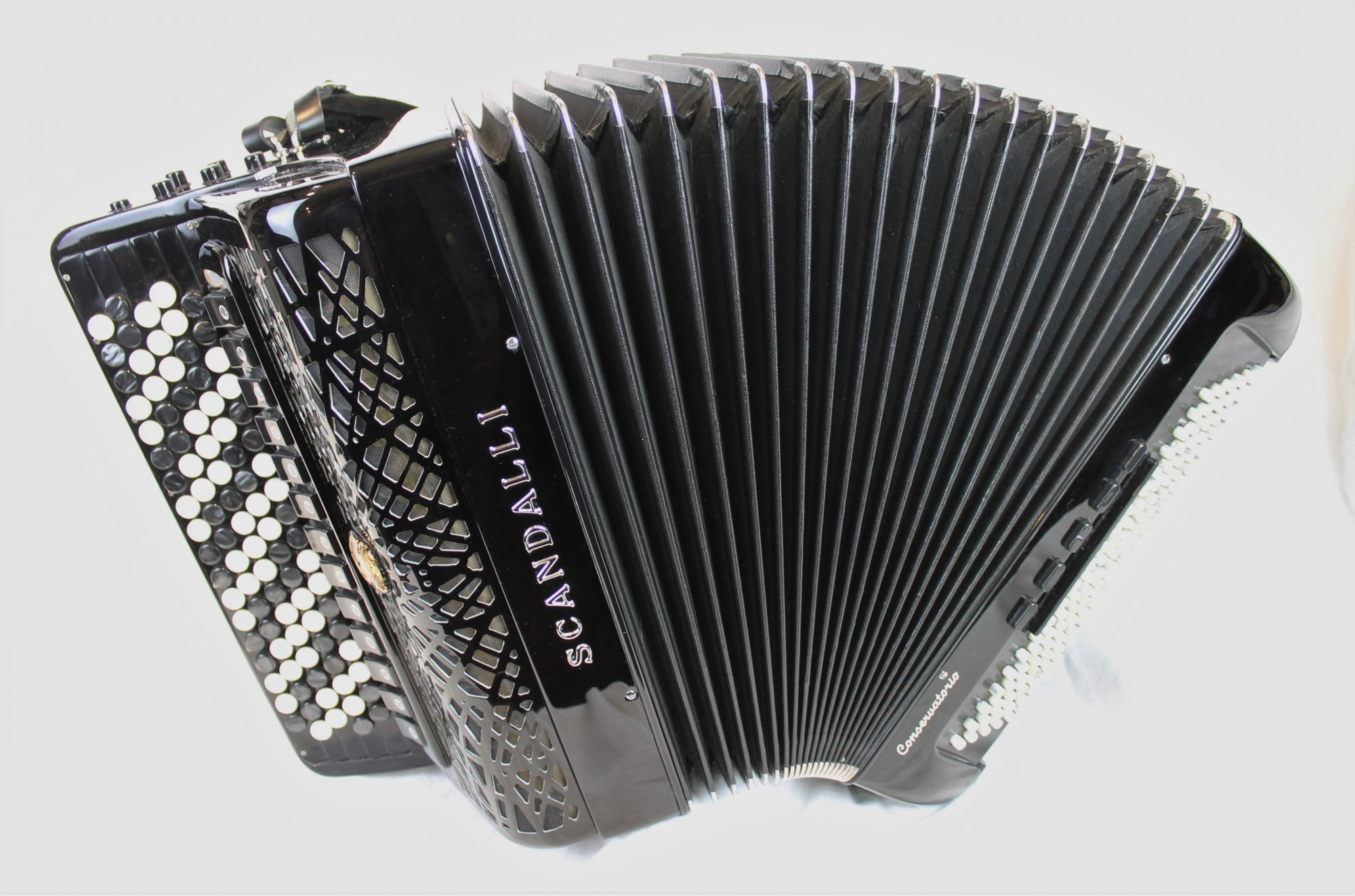 NEW Black Scandalli BJC 442 Compact Chromatic Button Accordion LMMH 92 120
