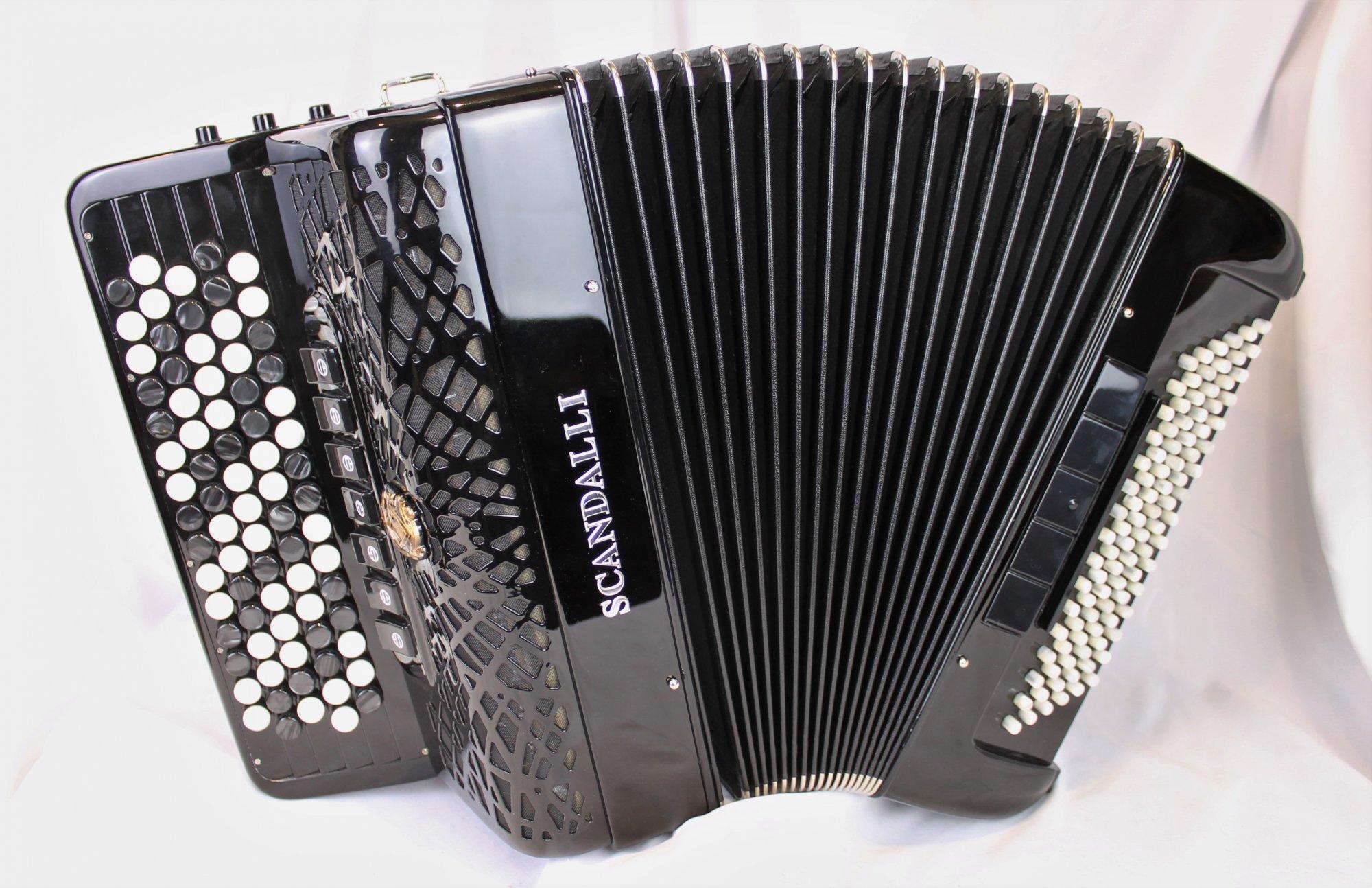 NEW Black Scandalli Conservatorio C 342 Chromatic Button Accordion Converter LMH 77 96