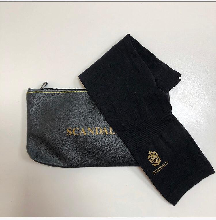 PRE-ORDER Scandalli Accordion Glove for Support and Comfort of the Left Hand Wrist Plus Bonus Scandalli Zipper Pouch