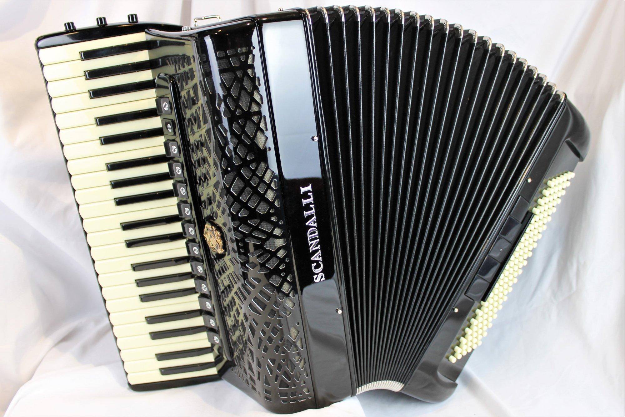 NEW Black Scandalli Conservatorio P 442 Piano Accordion LMMH 41 120
