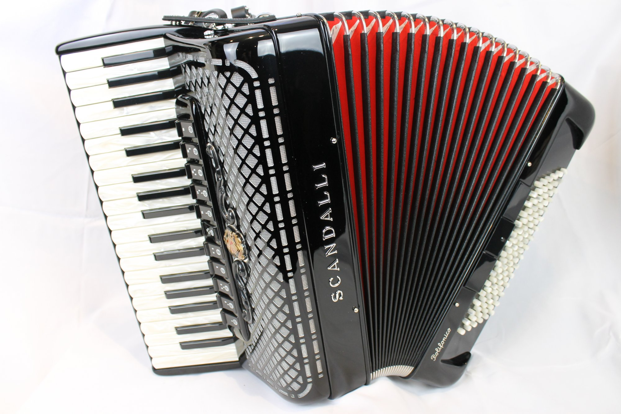 NEW Black Scandalli Polifonico IX Piano Accordion LMMH 37 96