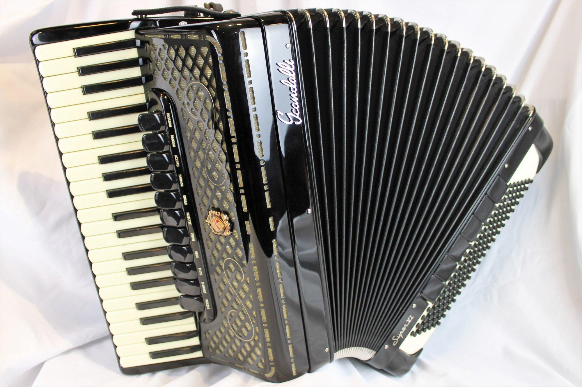 NEW Black Scandalli Super VI 2S Piano Accordion LMMH 41 120