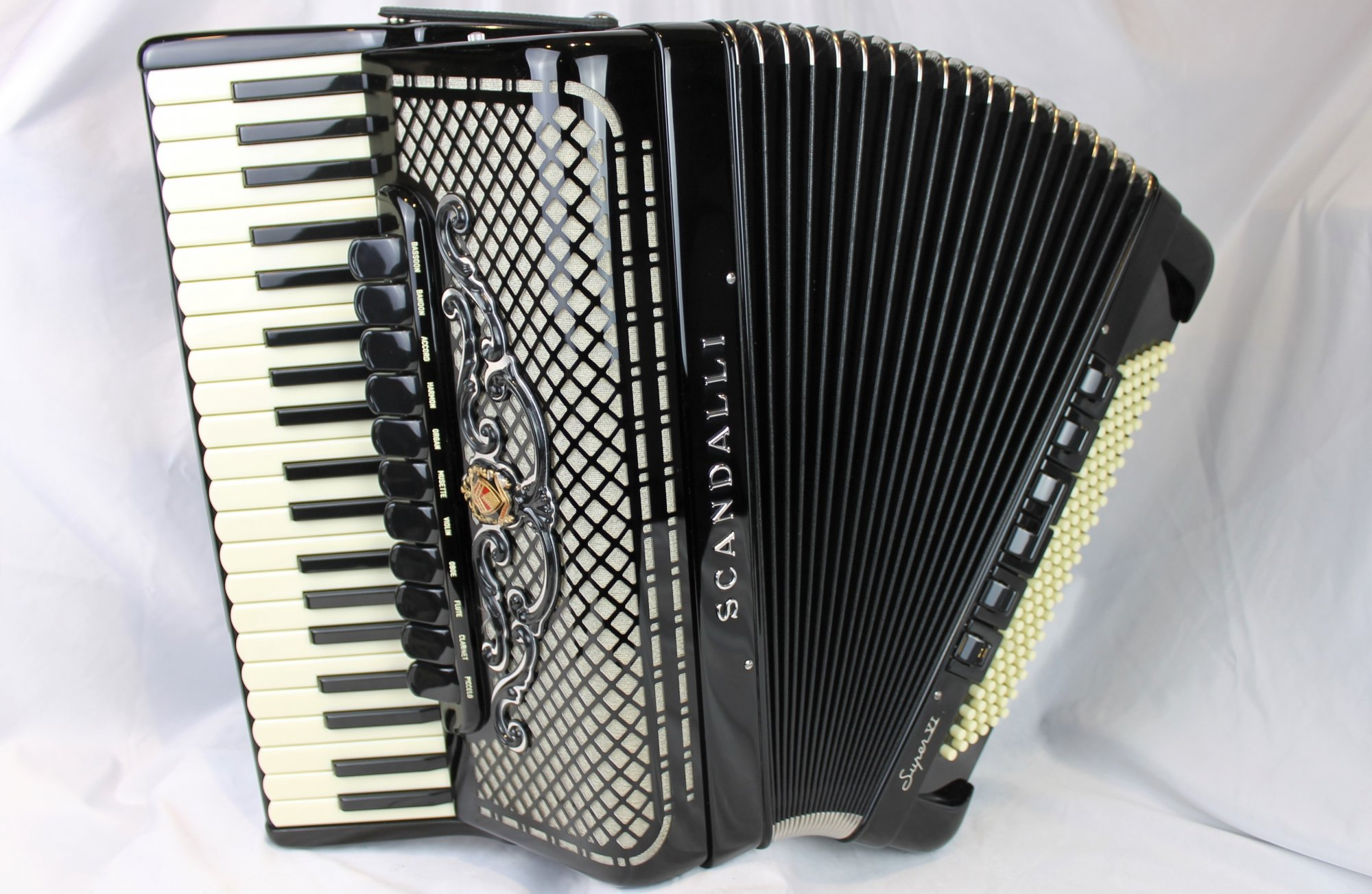 NEW Black Scandalli Super VI Extreme Binci Bombate Reeds Piano Accordion LMMH 41 120