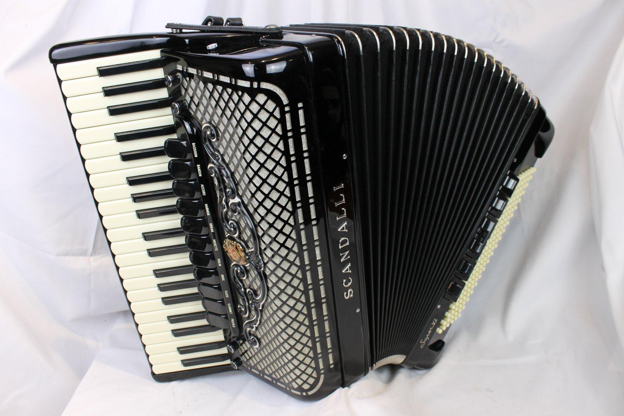 NEW Black Scandalli Super VI Extreme Piano Accordion LMMH 41 120