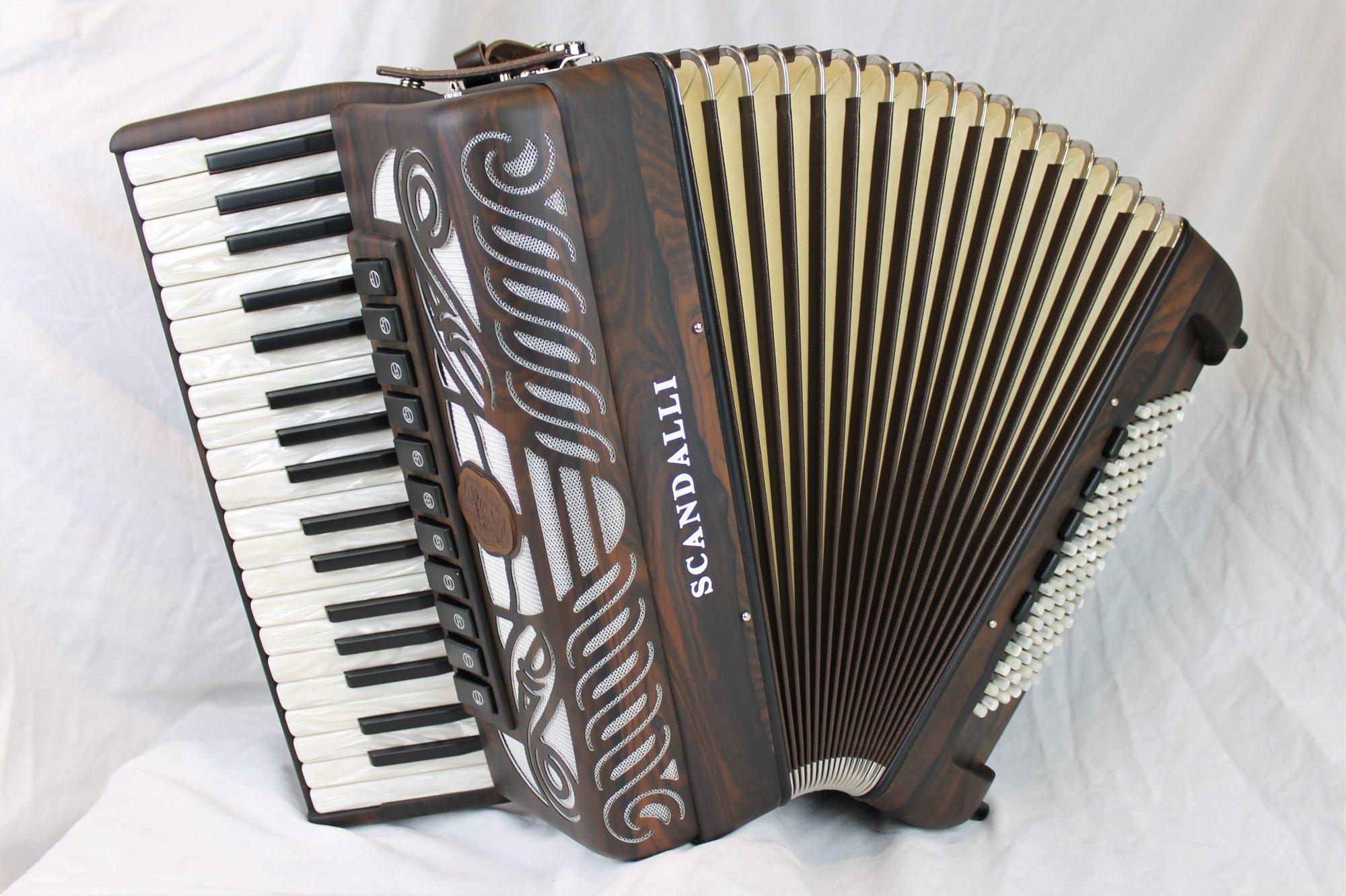 NEW Ziricote Wood Scandalli Tierra Piano Accordion LMMM 37 96