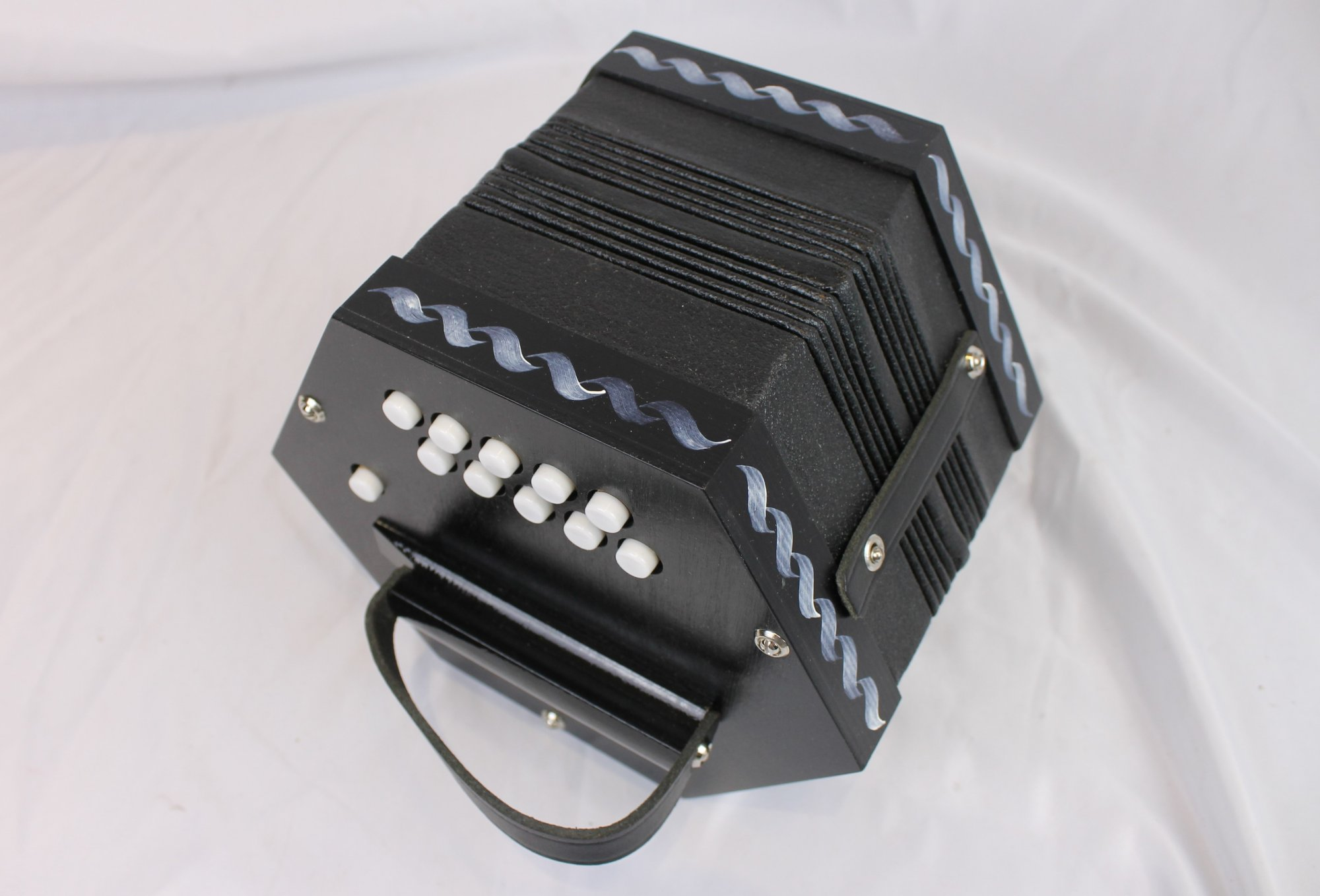 NEW Black German Anglo Concertina CG M 20