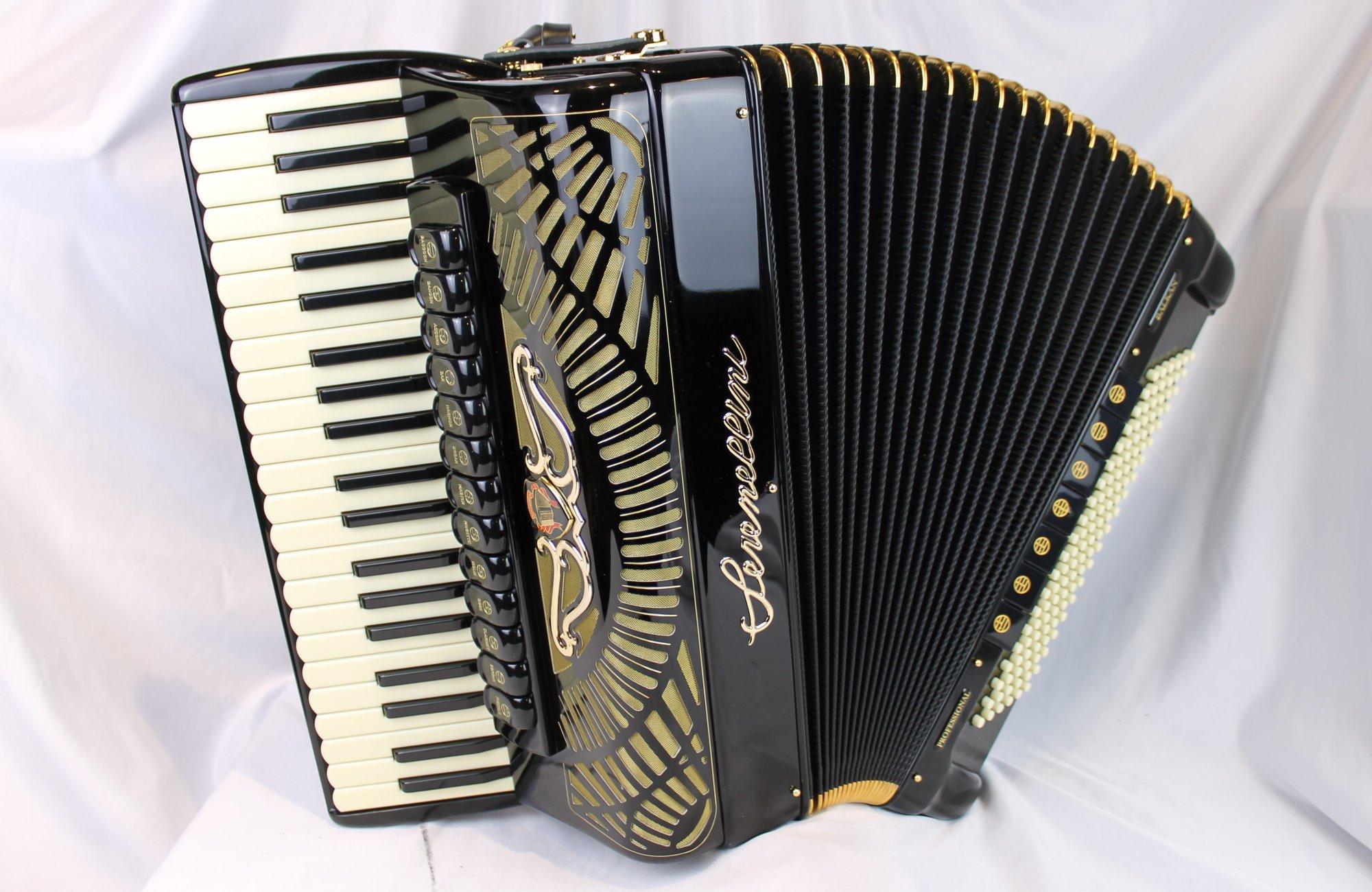 NEW Black Serenellini Balkan Gold Piano Accordion Binci LMMH 41 120