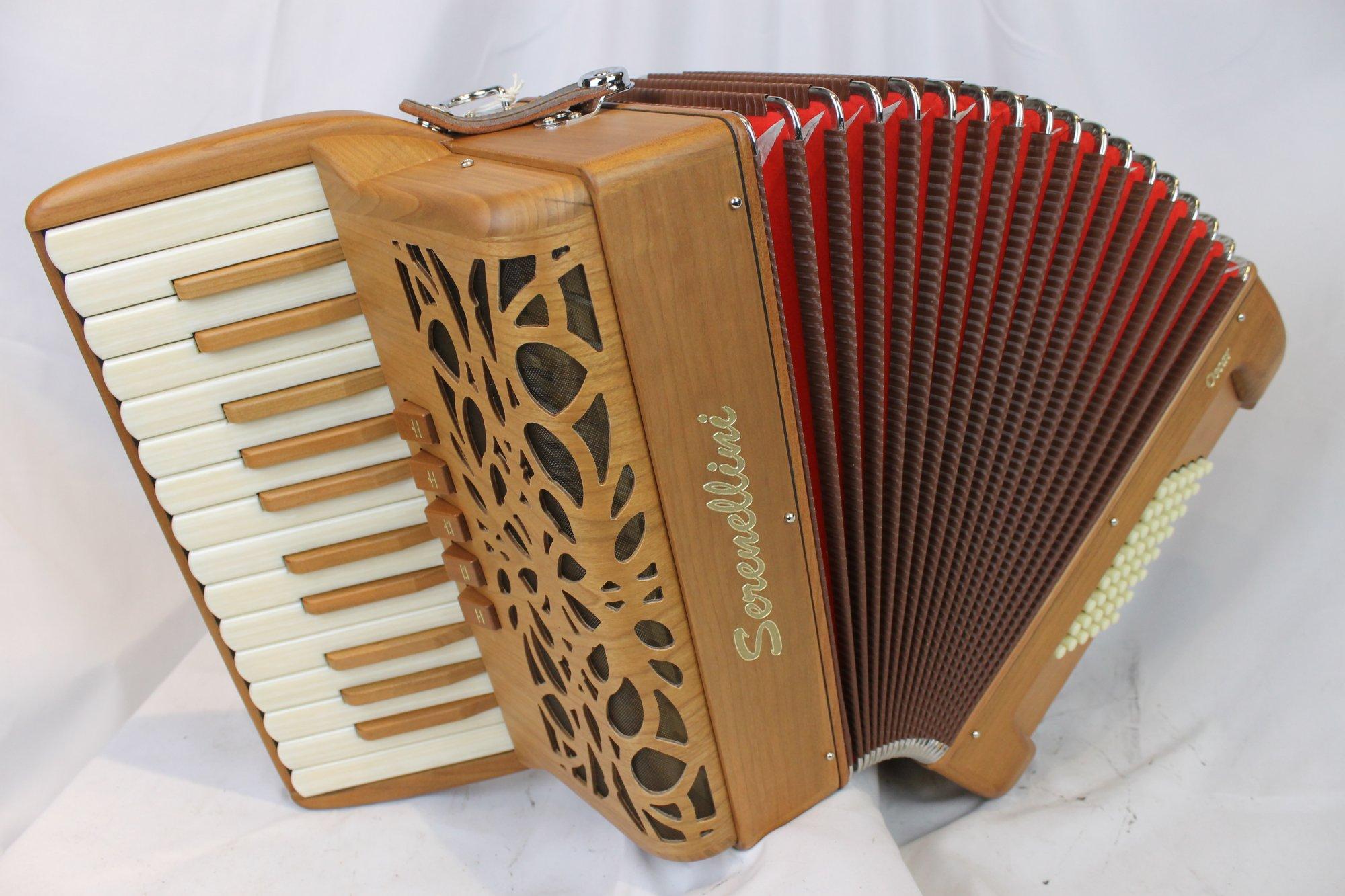 NEW Cherry Serenellini Oscar Piano Accordion LMM 26 48