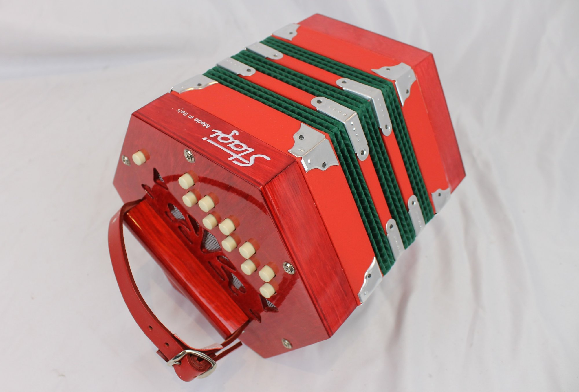 NEW Red Stagi  B-1 Anglo Concertina CG M 20