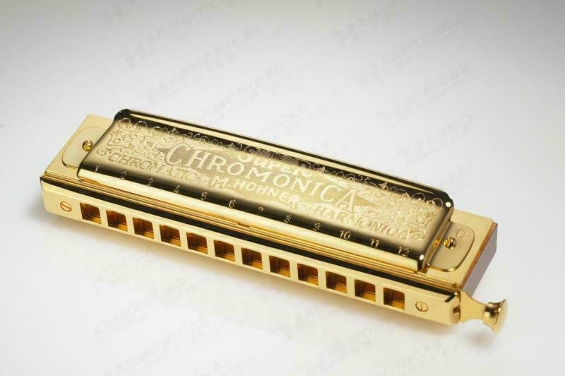 New Hohner Super Chromonica Gold Chromatic Harmonica Key of C