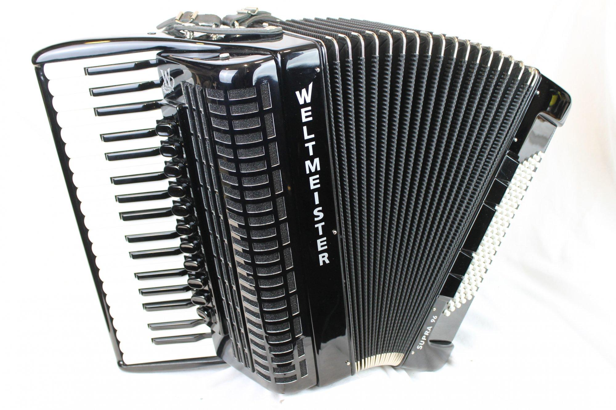 NEW Black Weltmeister Supra Tone Chambered Piano Accordion LMMH 37 96