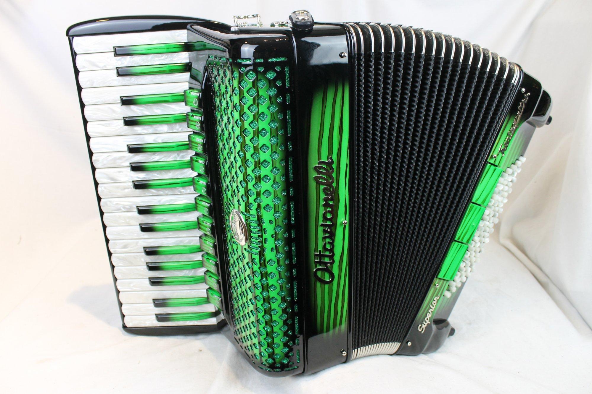 NEW Green Shadow Ottavianelli Superior Trentaquattro Piano Accordion LMMM 34 72