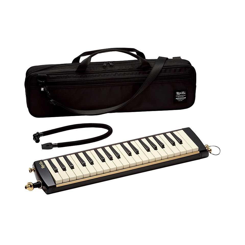 New Black Suzuki Pro-37v3 Melodion Pro 37 Key Melodica