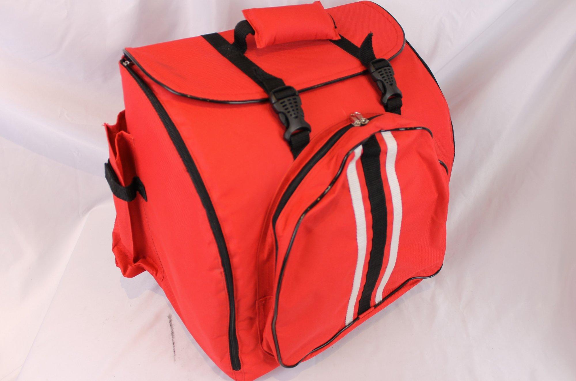 Red Soft Cse Gig Bag for Accordion 14.5 x 9 x 14 - Fits 48 Bass Accordions