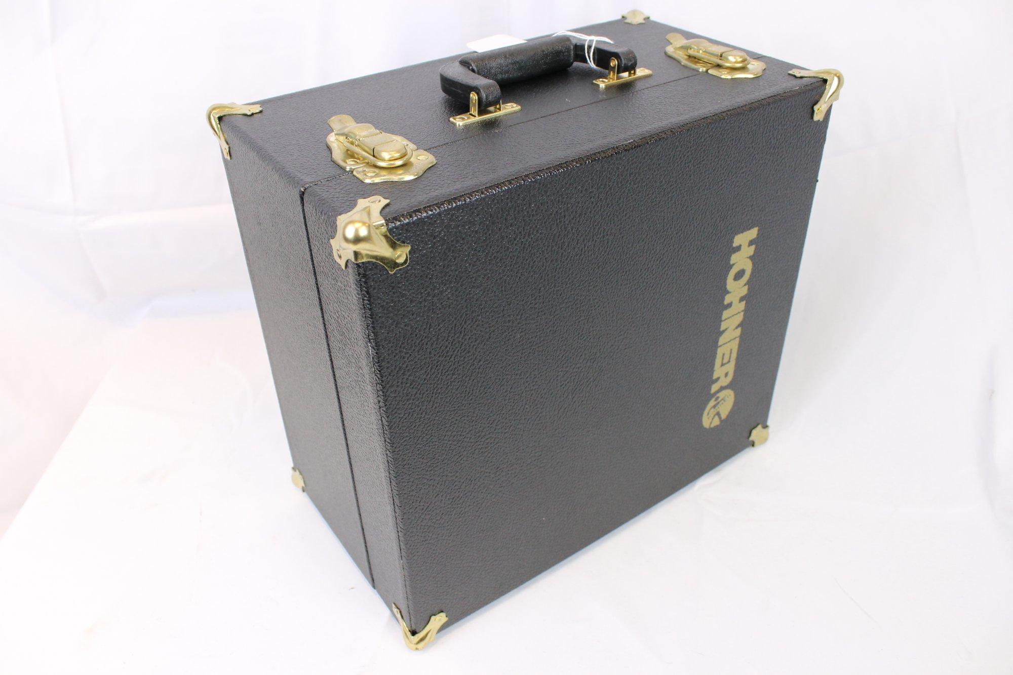 Black Hohner Accordion Hard Case 13.75 x 12.5 x 8 (35 cm x 32cm x 20cm)