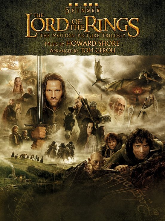 The Lord of the Rings Trilogy  Music from the Motion Pictures Arranged for 5 Finger Piano