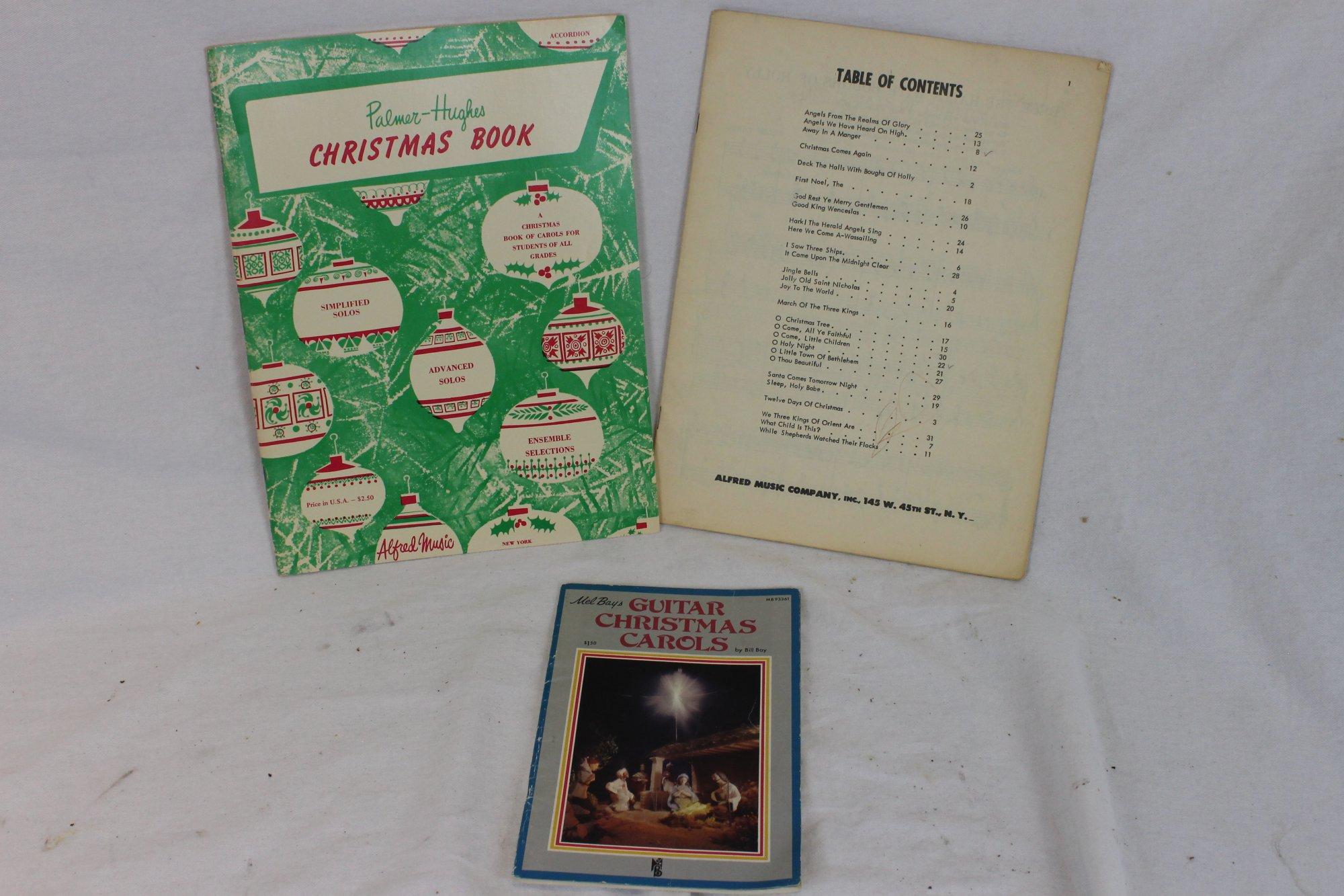 Lot of 3 Used Piano Accordion Music Books - Christmas