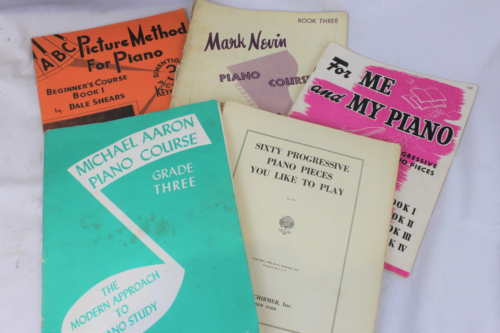 Lot of 5 Used Piano Books and Sheets - Beginner Pieces and Method Books