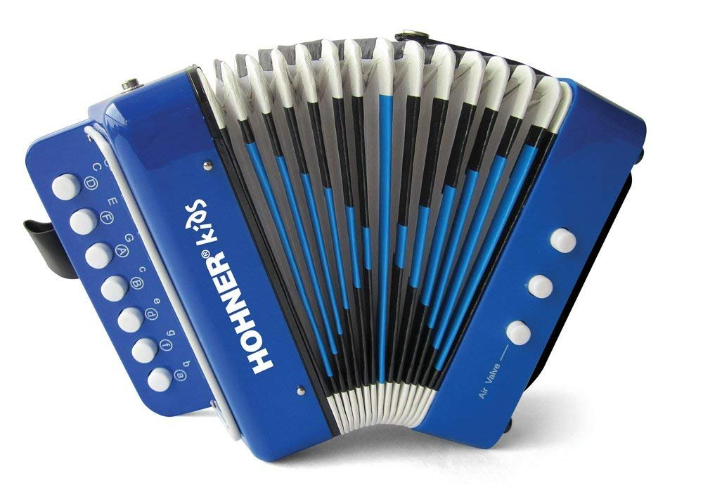 NEW Blue Hohner Kids UC102B Toy Accordion