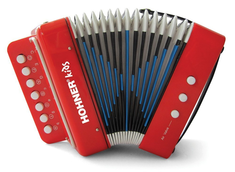 NEW Red Hohner Kids Toy Diatonic Button Accordion M 8 2