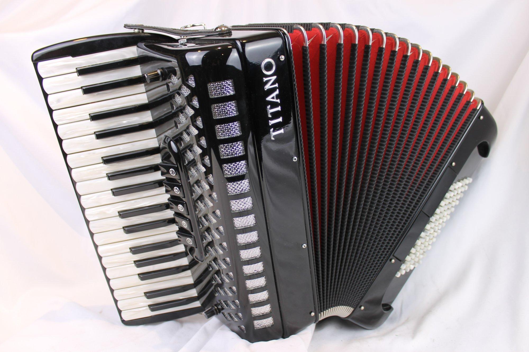 1887 - Black Titano Studio P36 Piano Accordion LMM 34 72