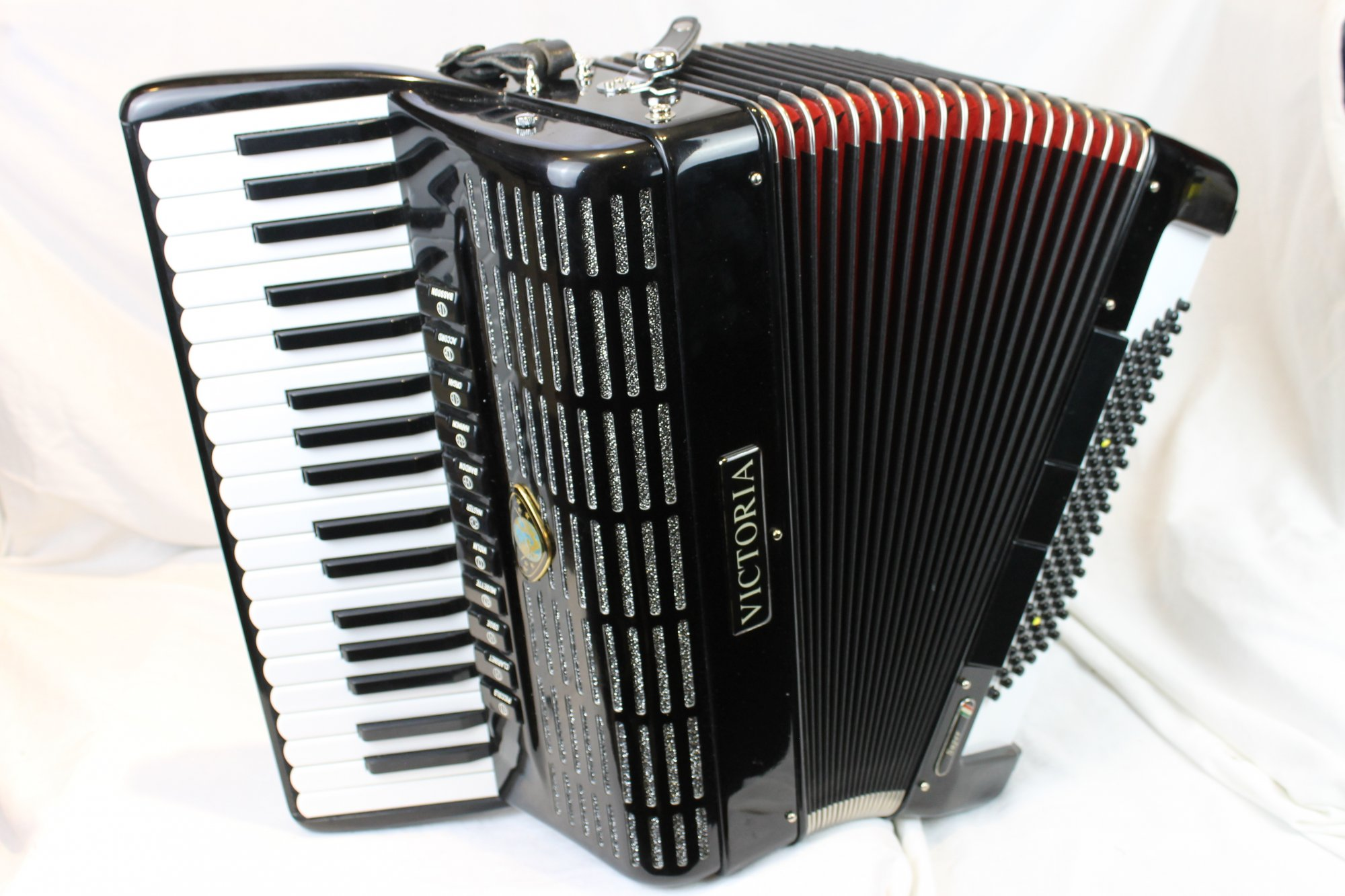 2916 - Black Victoria Super Piano Accordion LMMH 37 96