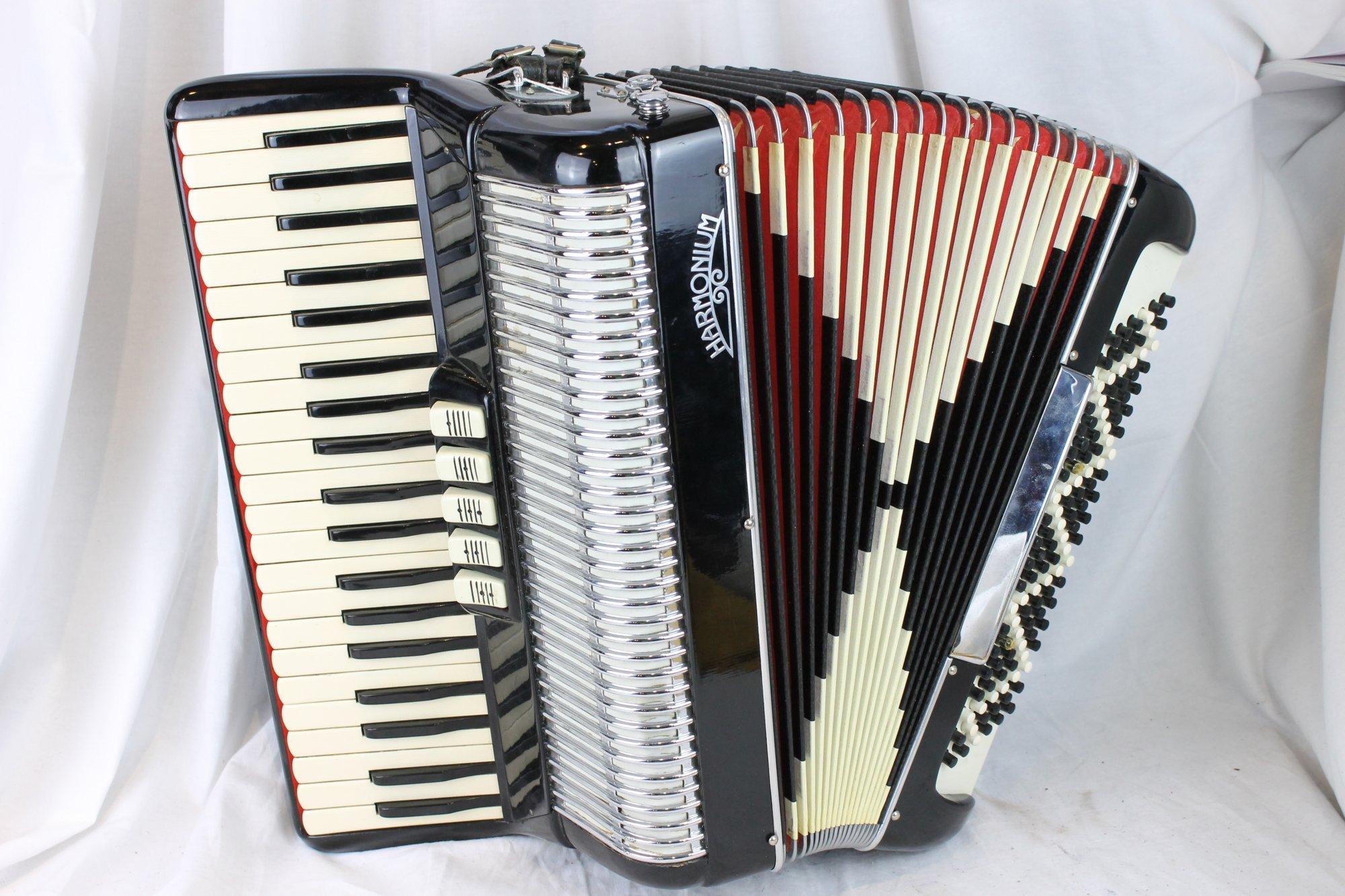 3102 - Black Harmonium Piano Accordion LMH 41 120