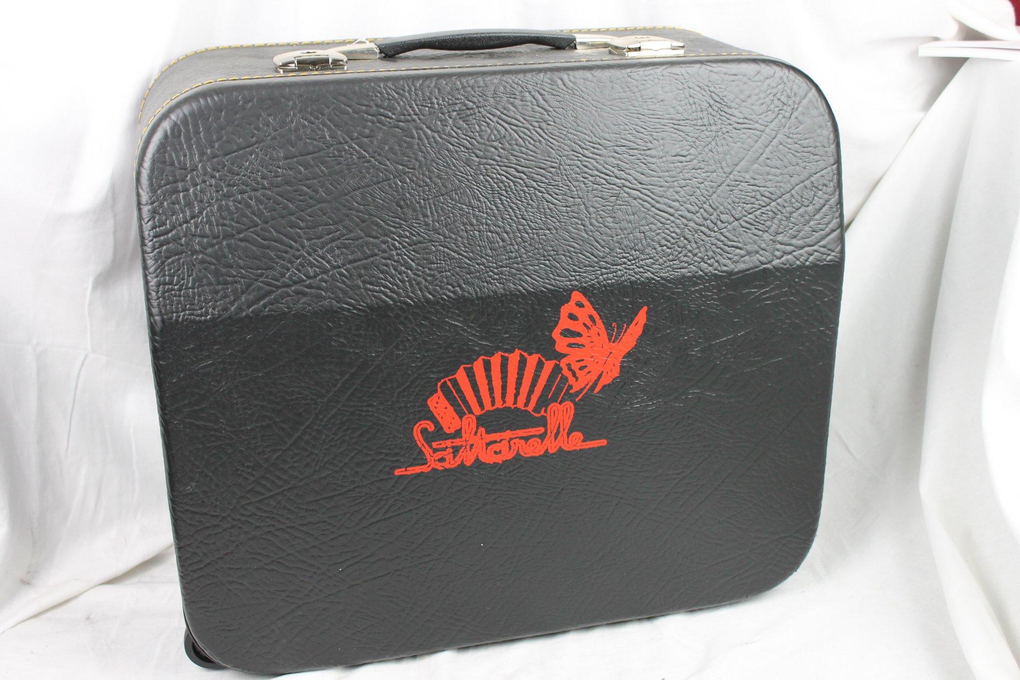 NEW Black Saltarelle Trolley Hard Case for Accordion 20.25 x 17.5 x 9.25 fits Roland FR-4X FR-3X