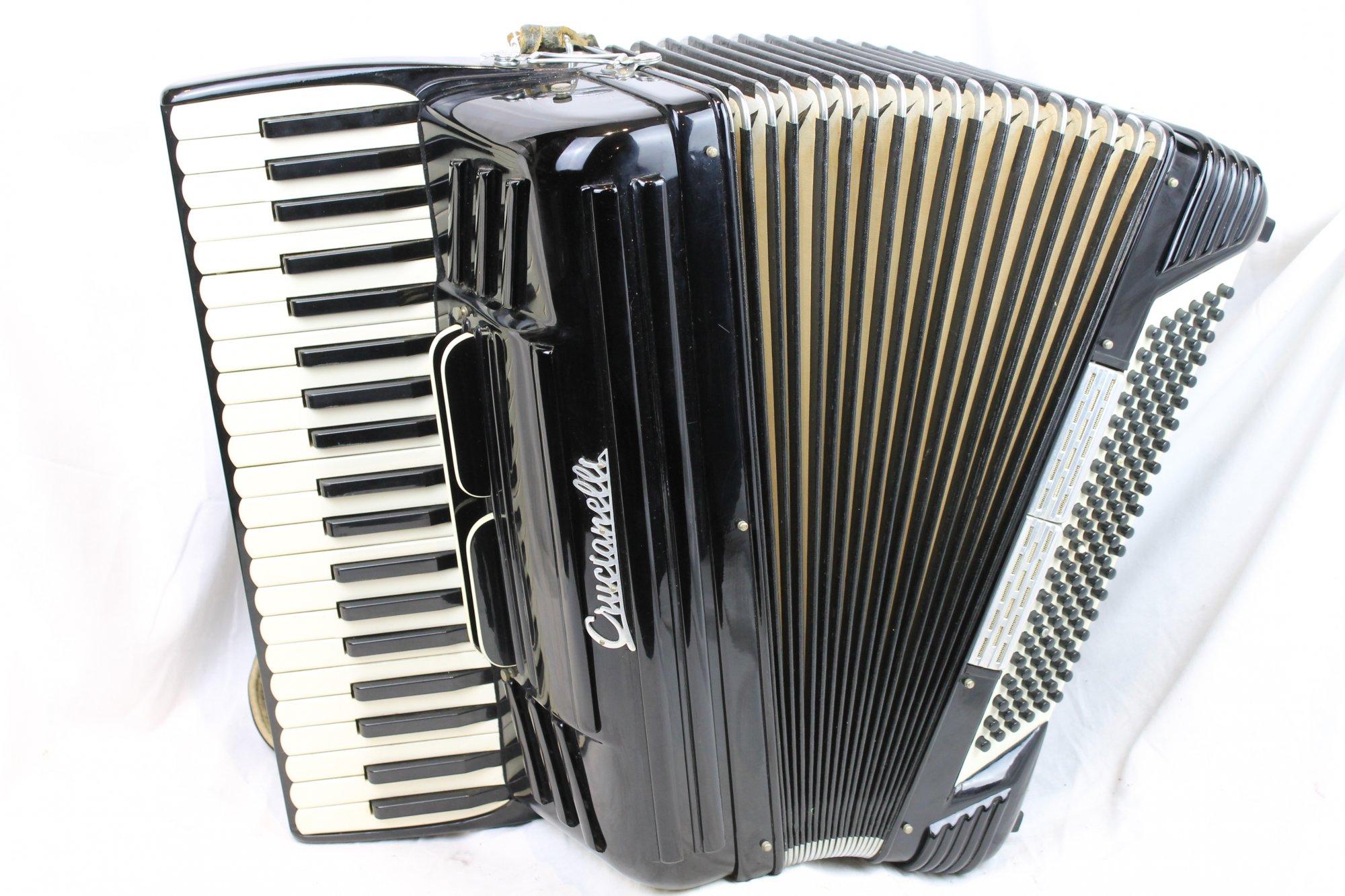 3155 - Black Crucianelli Piano Accordion LM 41 120