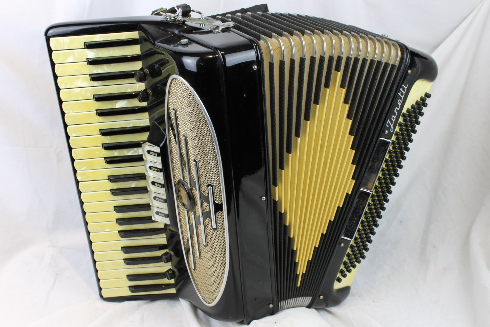 3191 - Black Janetti Piano Accordion LMH 41 120