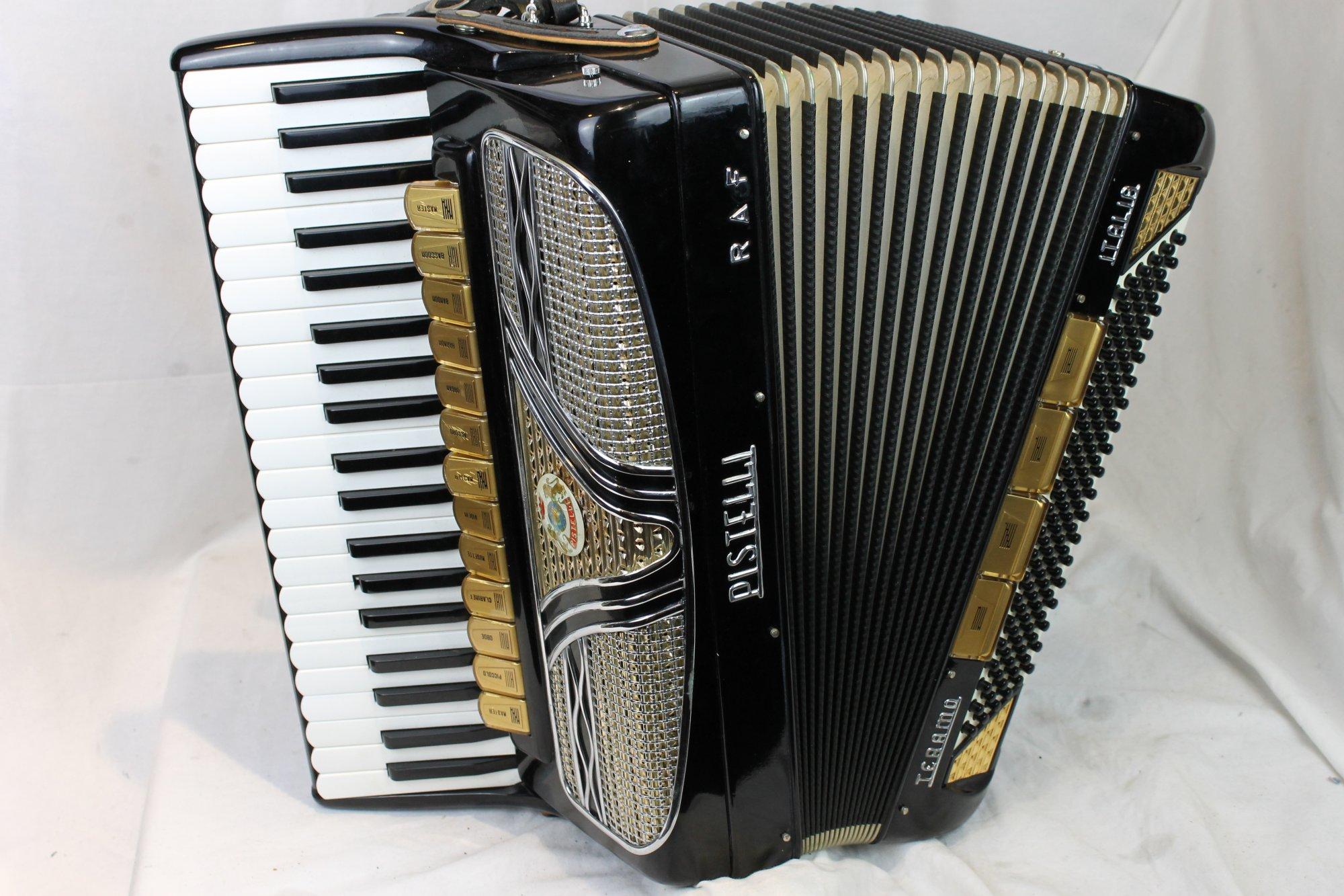 3322 - Black Pistelli Teramo Piano Accordion LMMH 41 120
