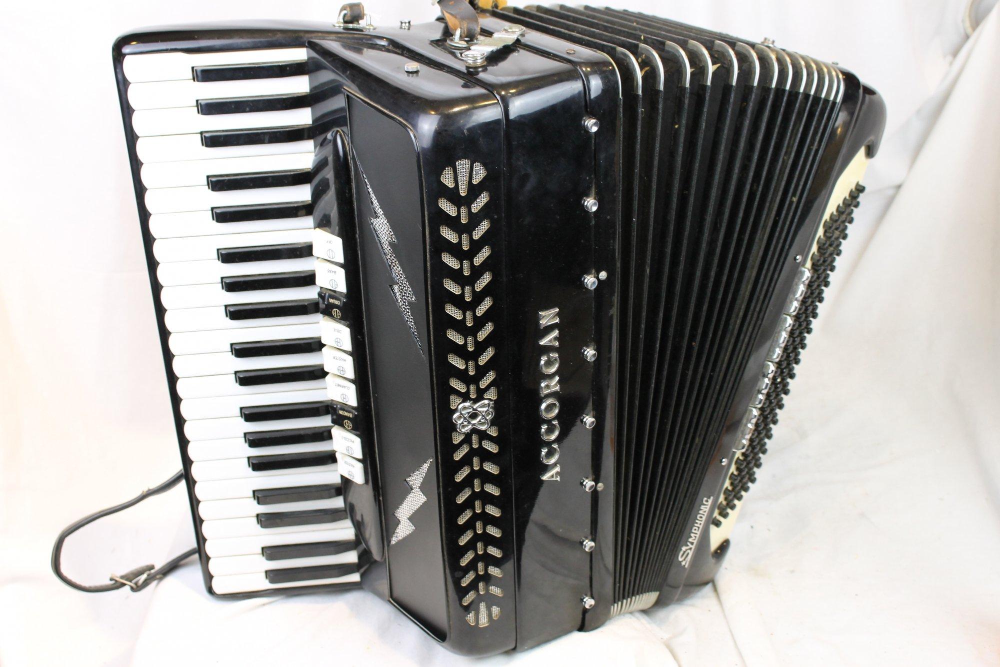 3336 - Black Iorio Accorgan Symphonic Piano Accordion LMH 41 120