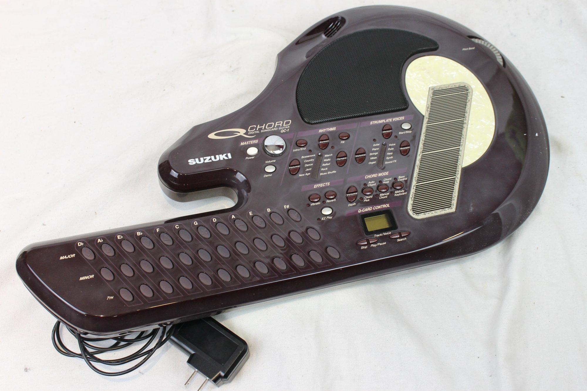 3377 - Burgundy Suzuki Q-Chord Digital Sound Guitar