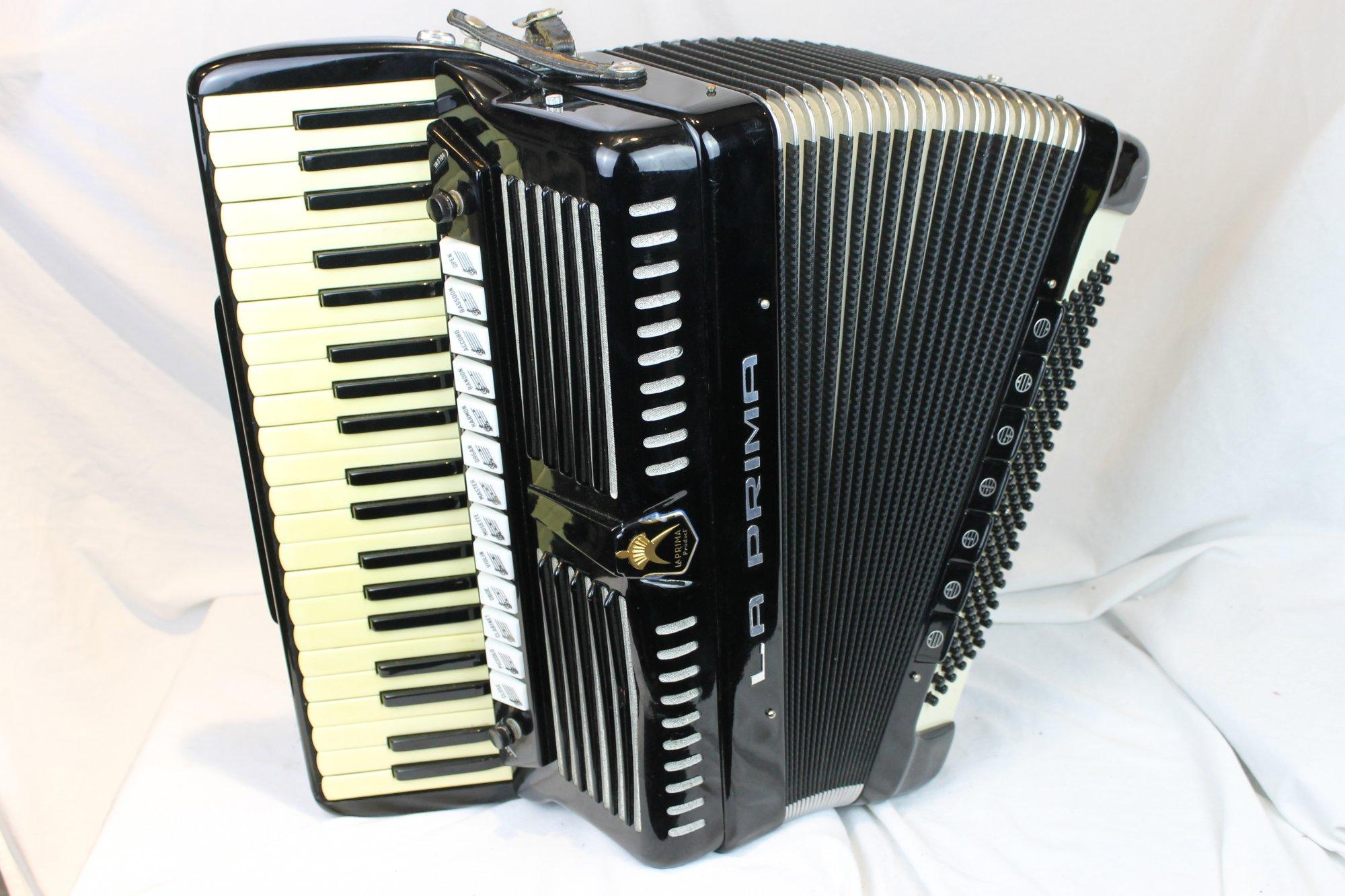 3553 - Black La Prima Piano Accordion LMMH 41 120