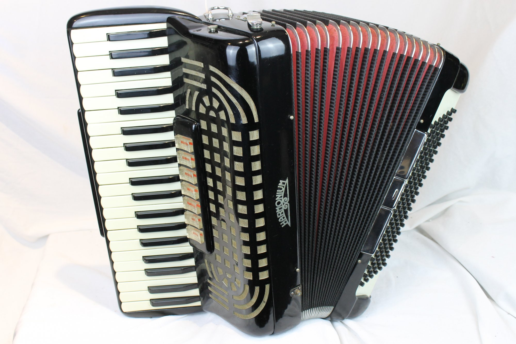 3557 - Black Harmonium Piano Accordion LMH 41 120