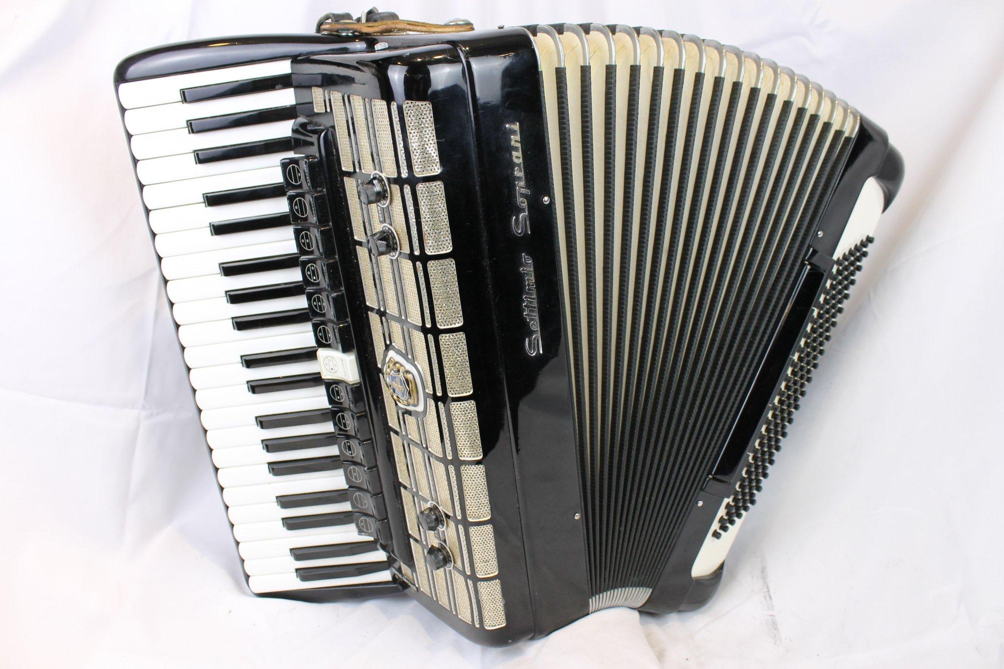 3681 - Black Settimio Soprani Piano Accordion LMMH 41 120