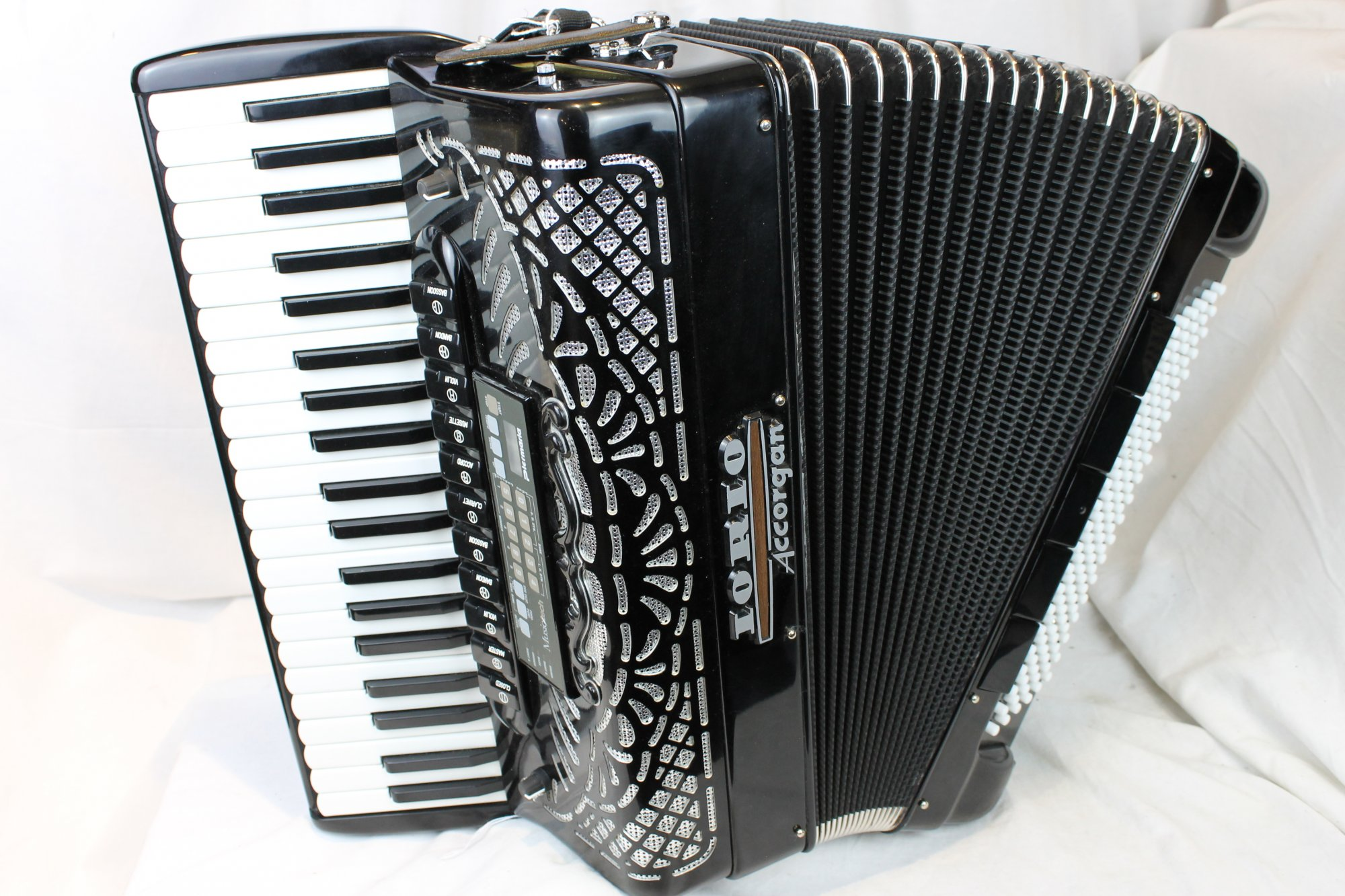 3709 - Black Iorio Accorgan KS 500 Piano Accordion LMMM 41 120