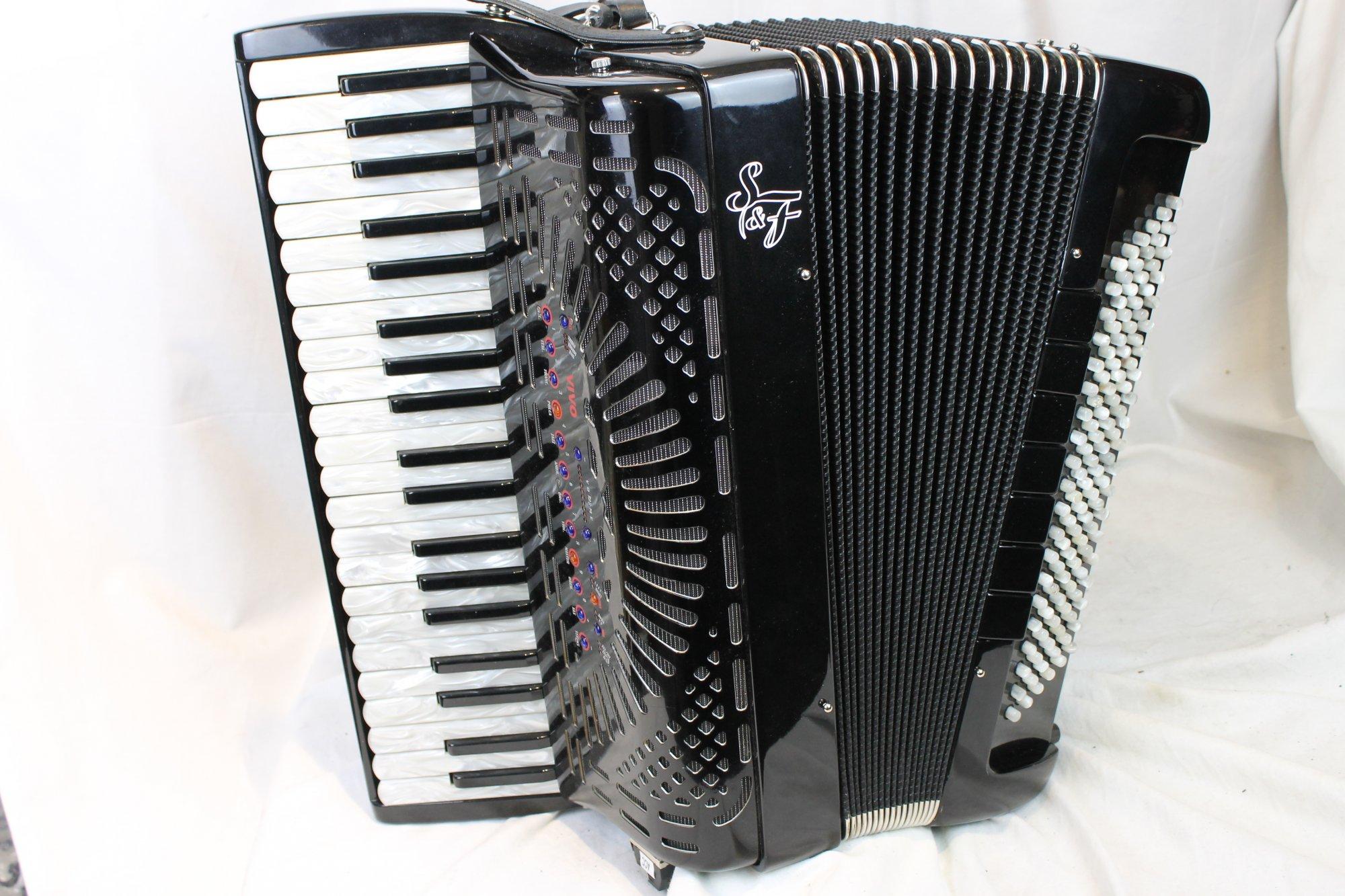 3728 - Black Siwa & Figli Vivo Wireless Digital Piano Accordion 41 120