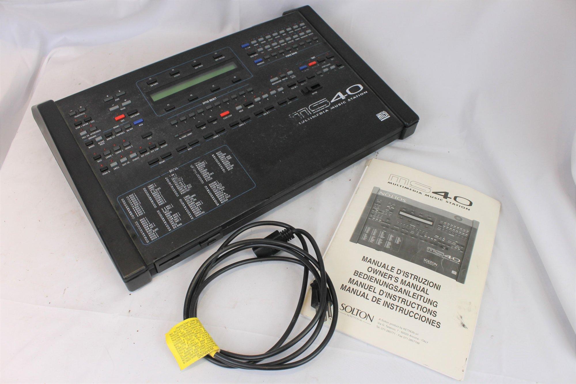 3791 - Ketron Solton MS-40 Multimedia Music Station Midi Module Arranger