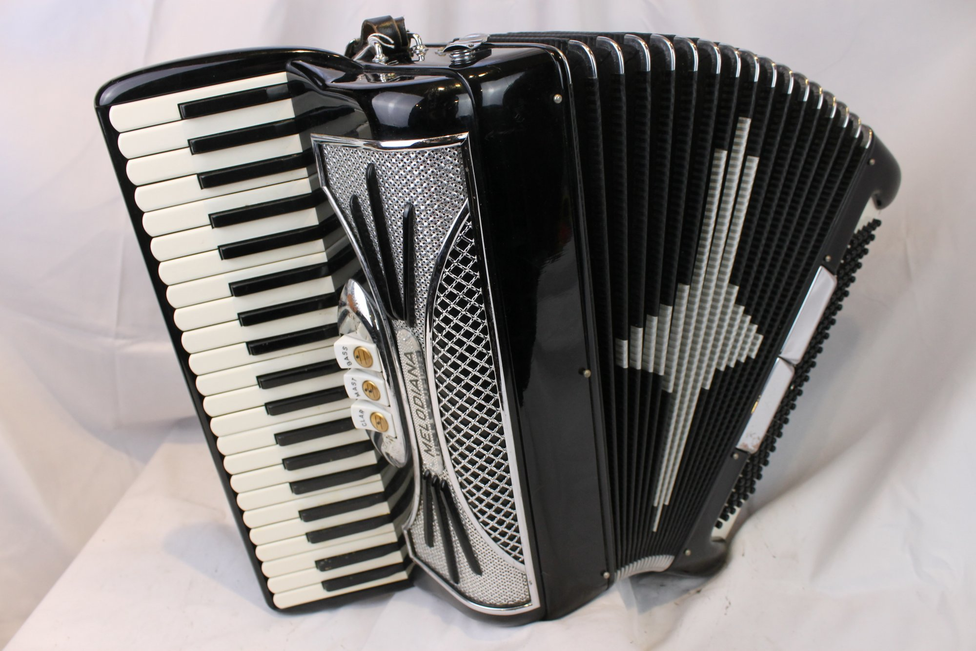3792 - Black Melodiana Piano Accordion LM 41 120