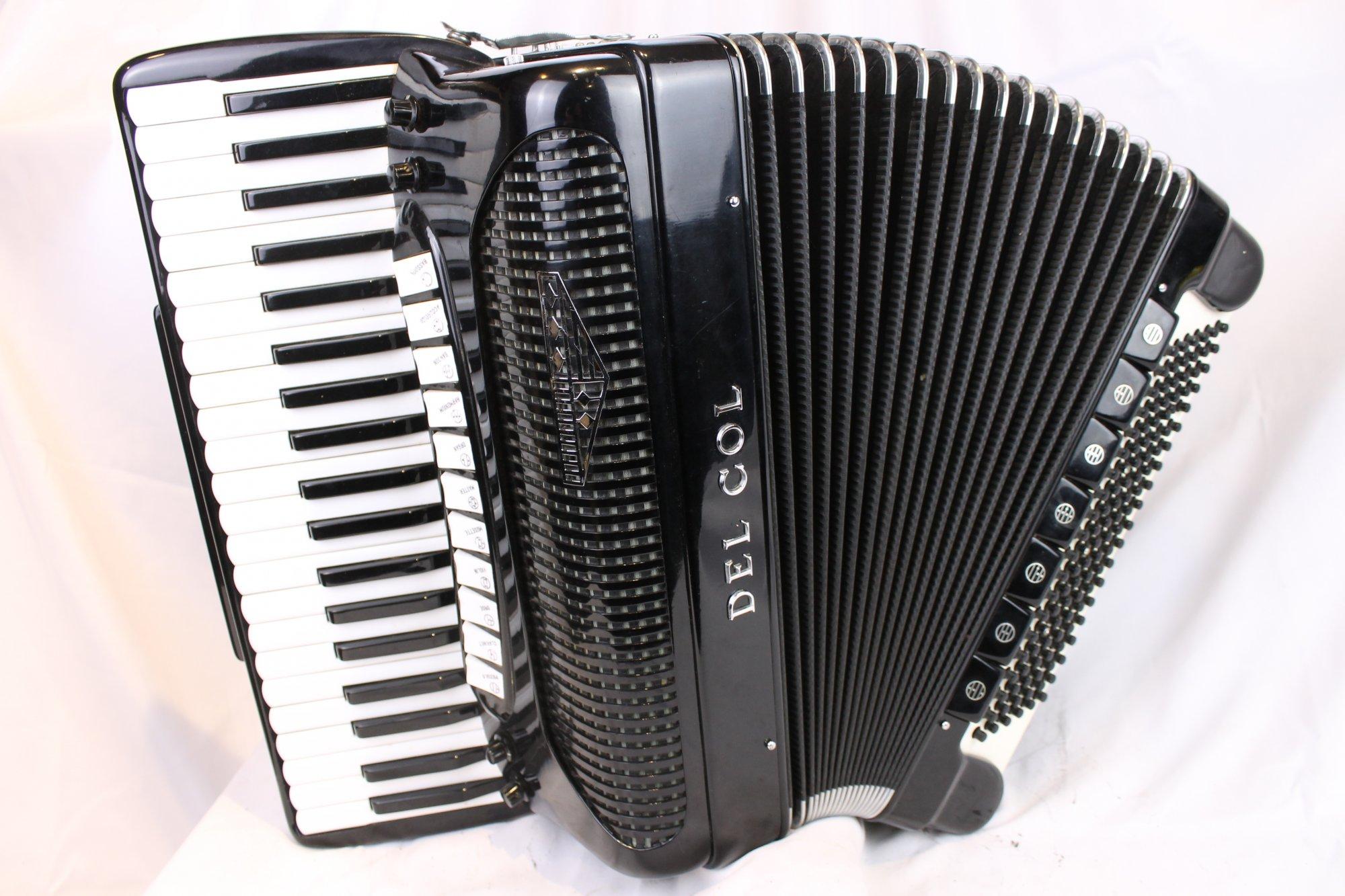3797 - Black Del Col Piano Accordion LMMH 41 120