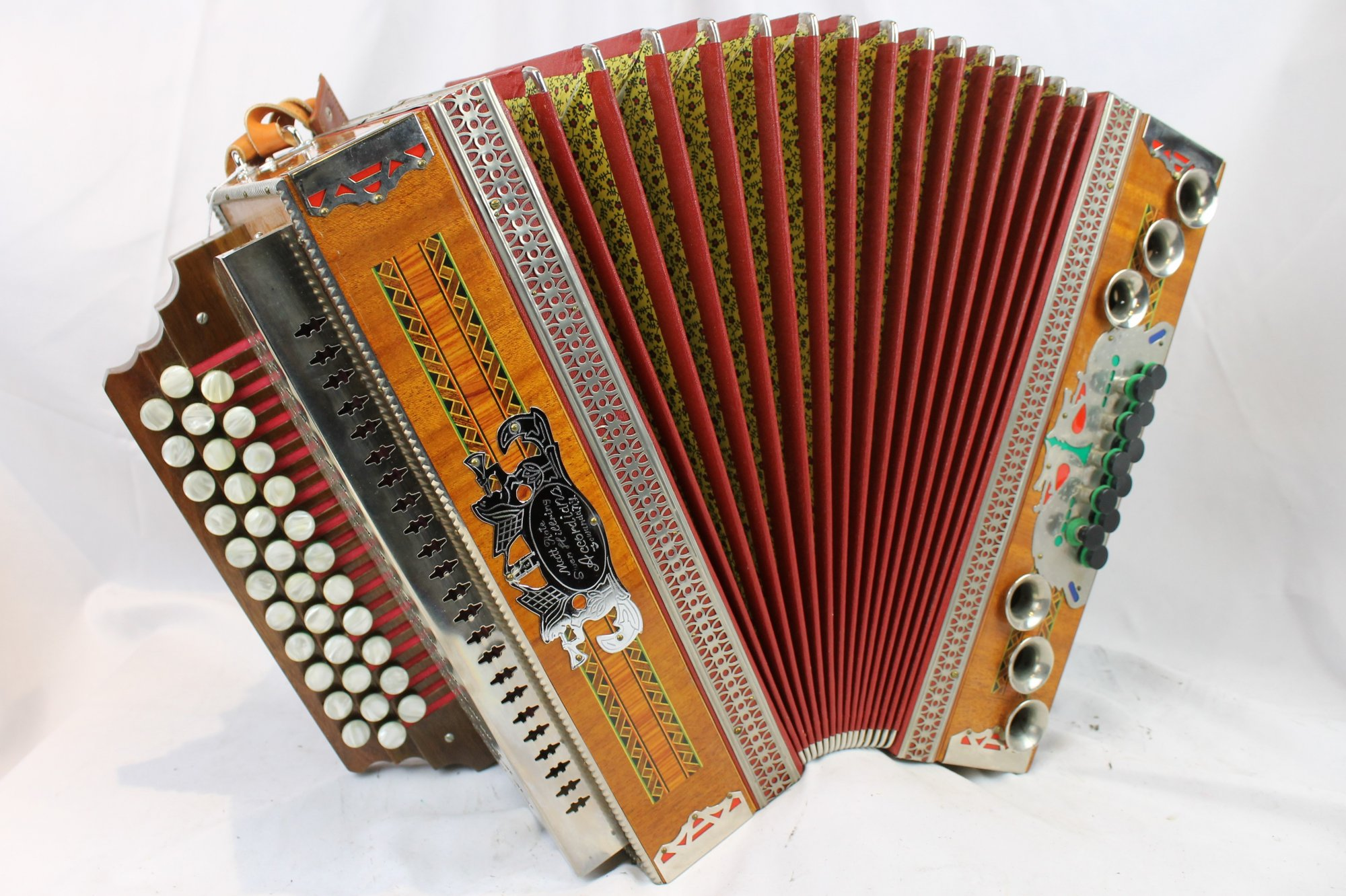 3800 - Alpine Melodija Menges 3 Row Steirische Diatonic Button Accordion CFBb MMM 34 11