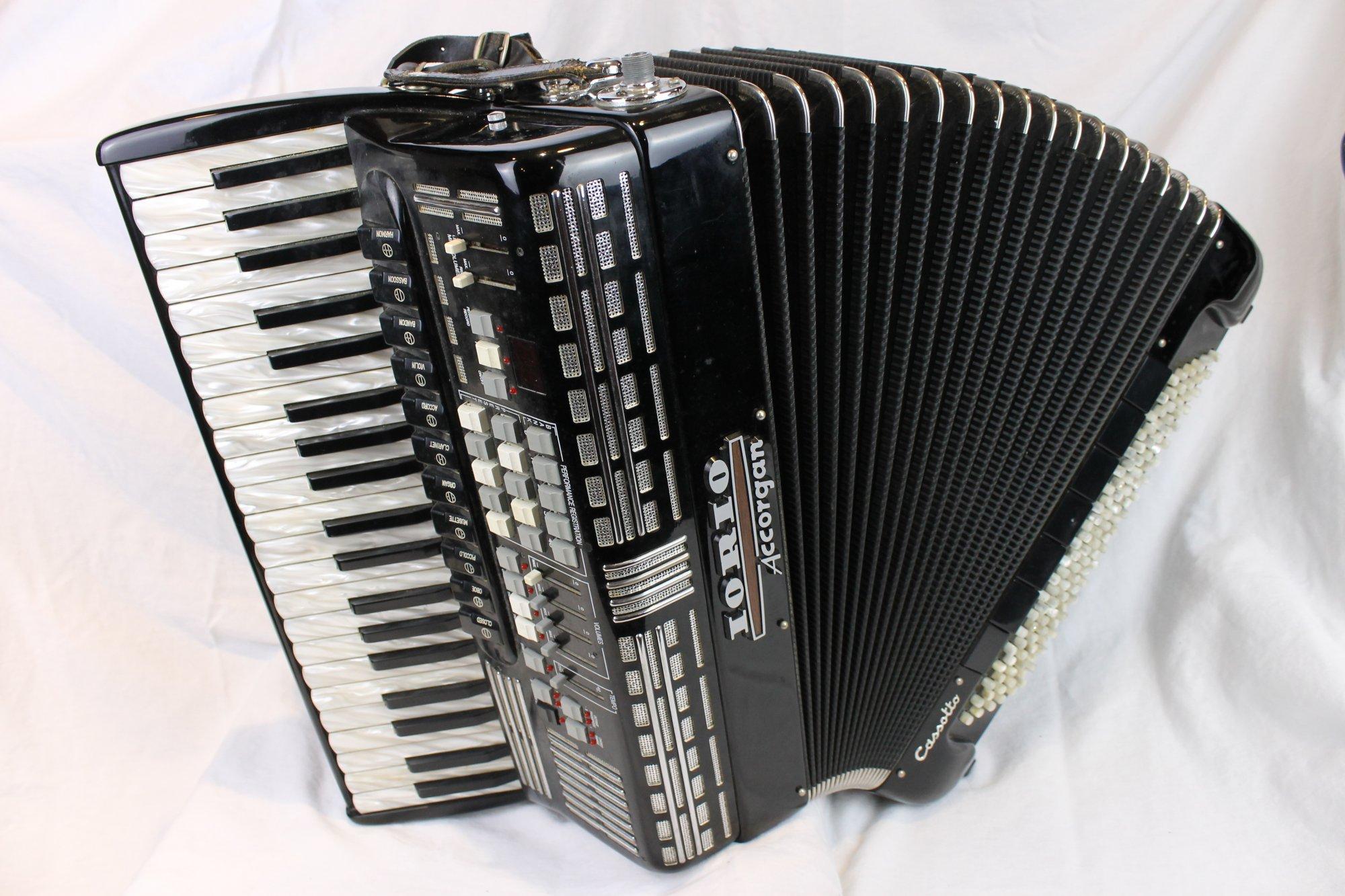 3816 - Black Iorio Accorgan H-Series Cassotto Piano Accordion LMMH 41 120