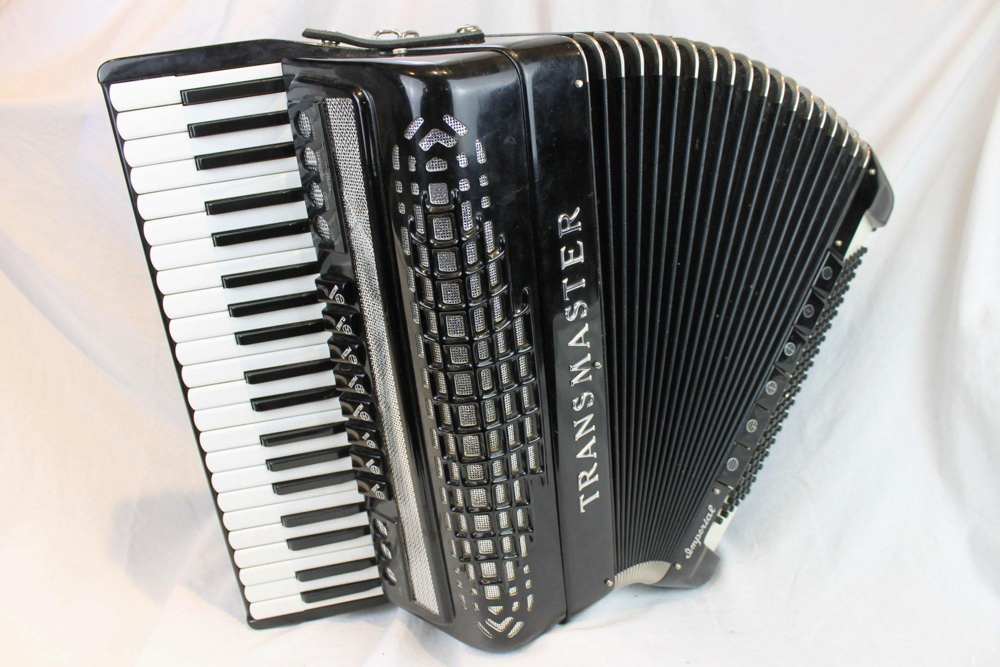 3838 - Black Imperial Transmaster Piano Accordion LMH 41 120