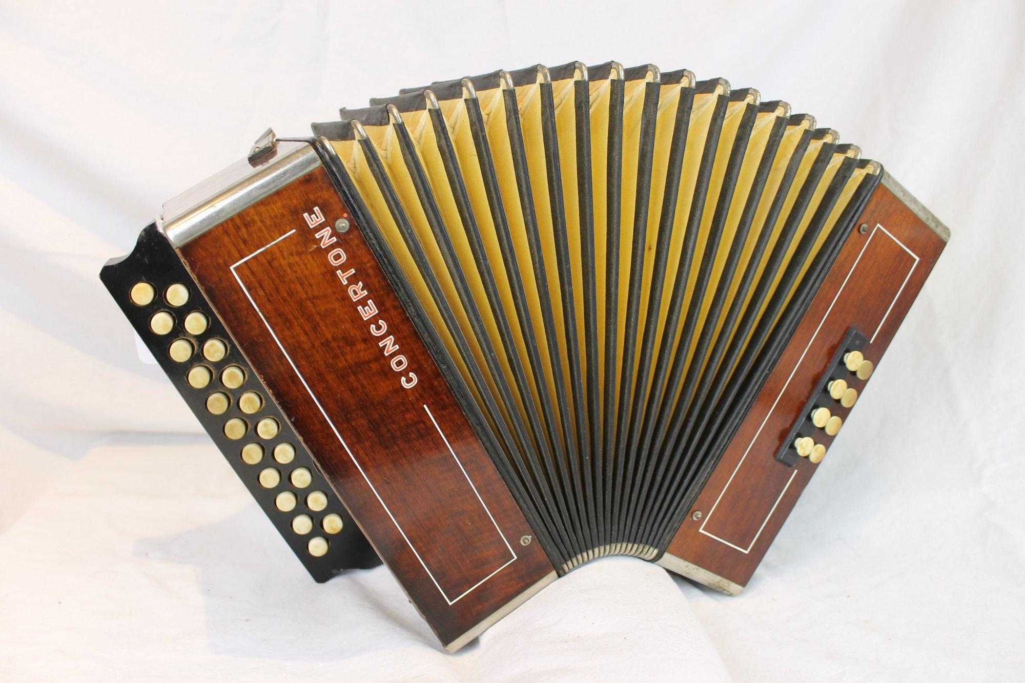 3931 - Cinnamon Hohner Concertone Diatonic Button Accordion GC MM 21 8