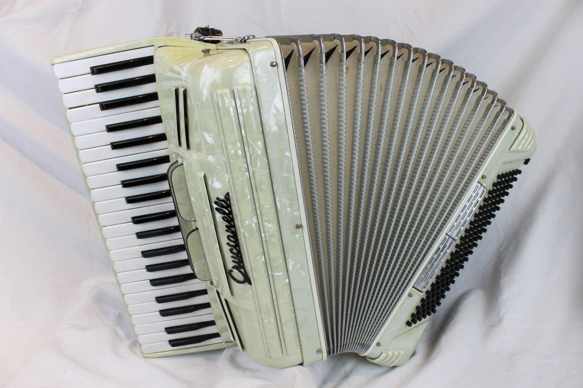 3933 - Ivory Pancordion Crucianelli Piano Accordion LM 41 120